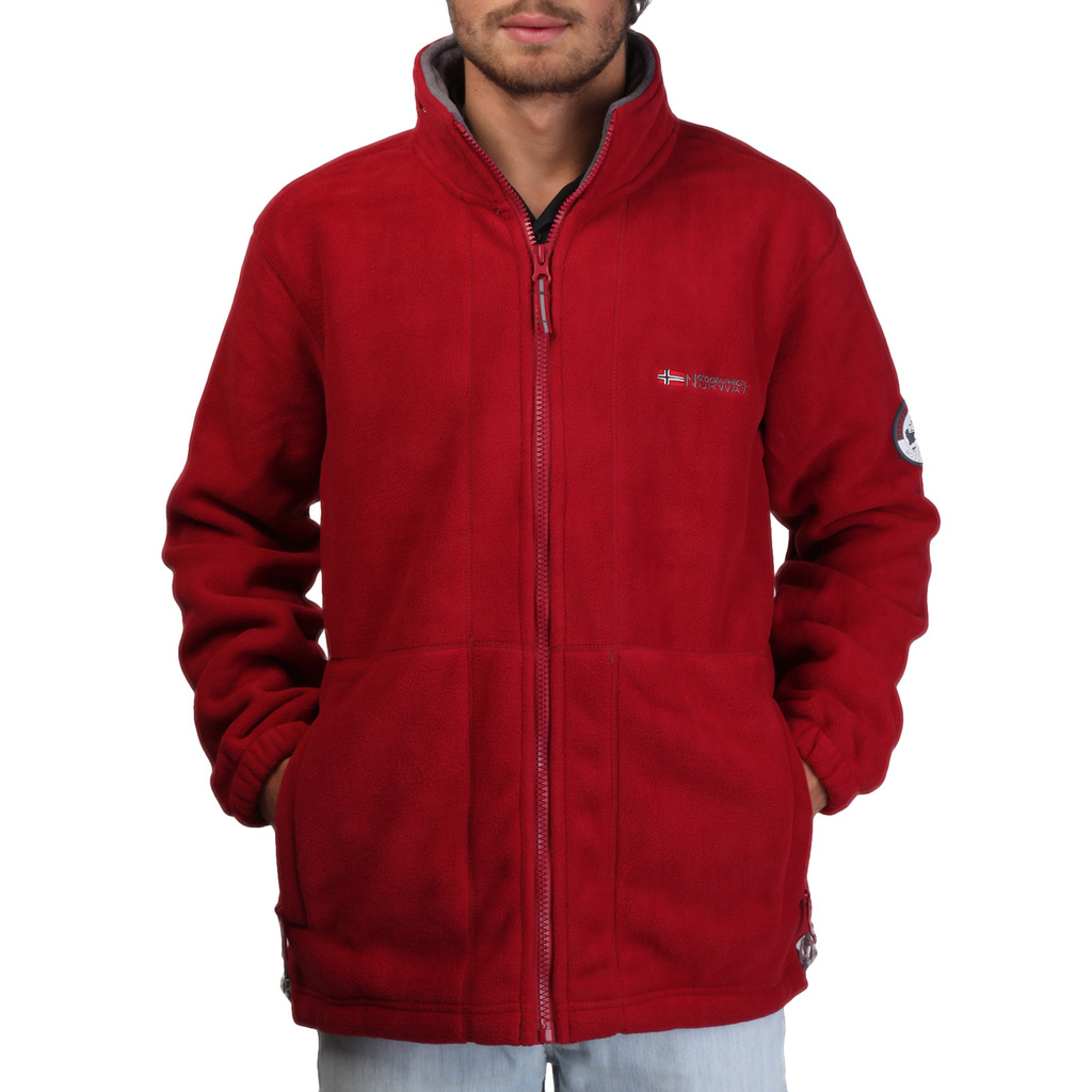 Hanorac Geographical Norway Korleon_man_red_grey