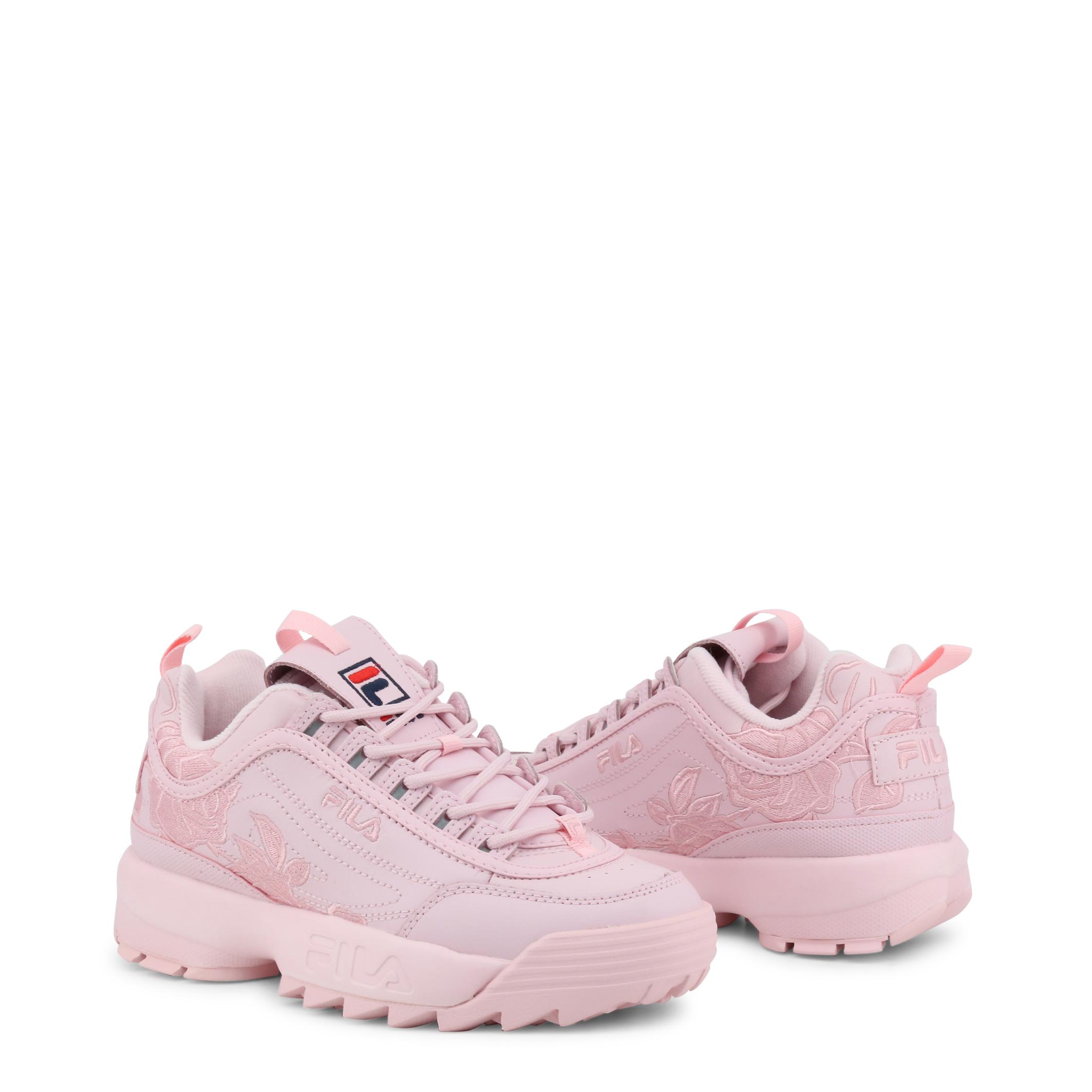 Details zu Fila Schuhe DISRUPTOR 2, Damen Sneakers Gelb/Weiß/Weiß/Rosa