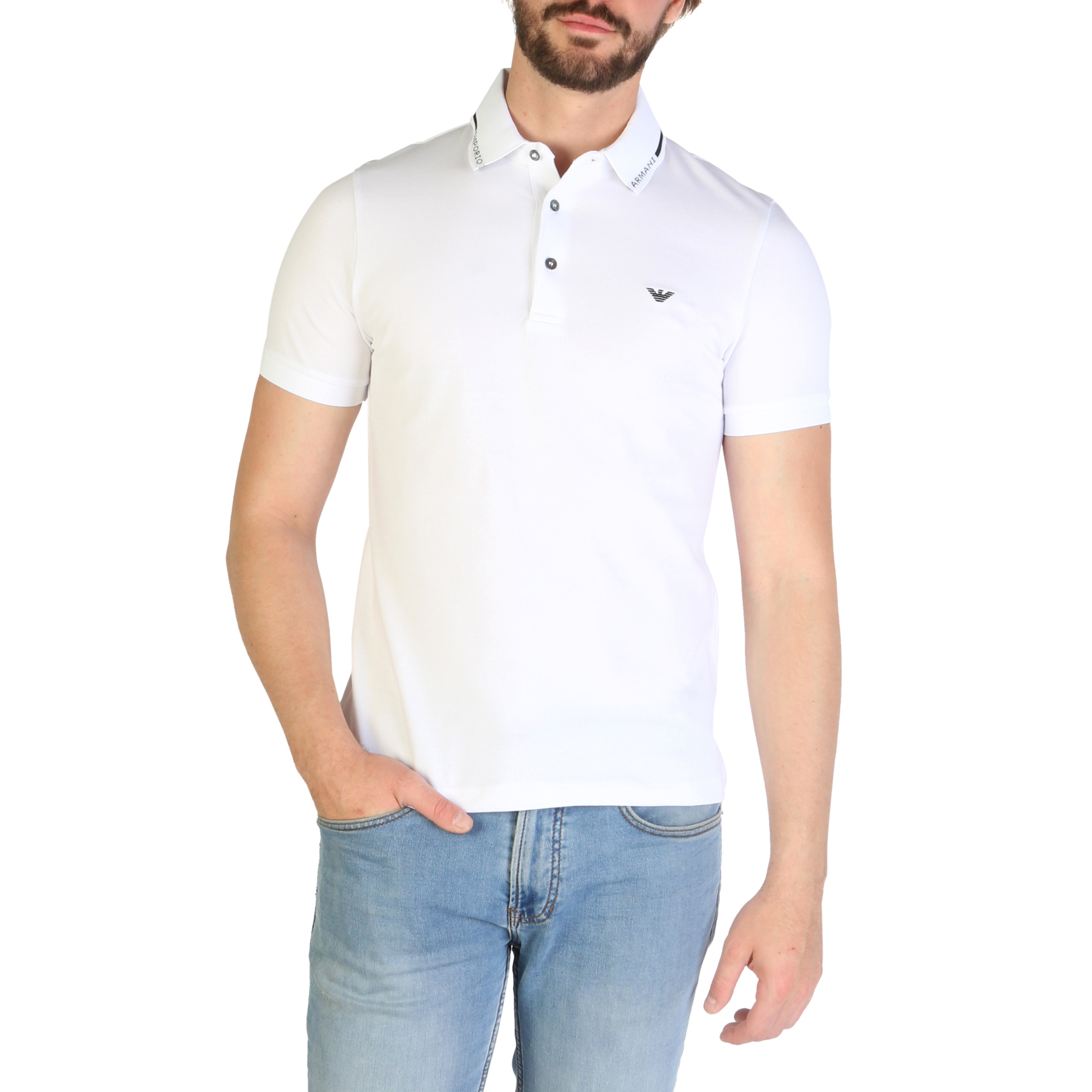 Polo Emporio Armani 3G1FL4 Uomo Bianco 101239