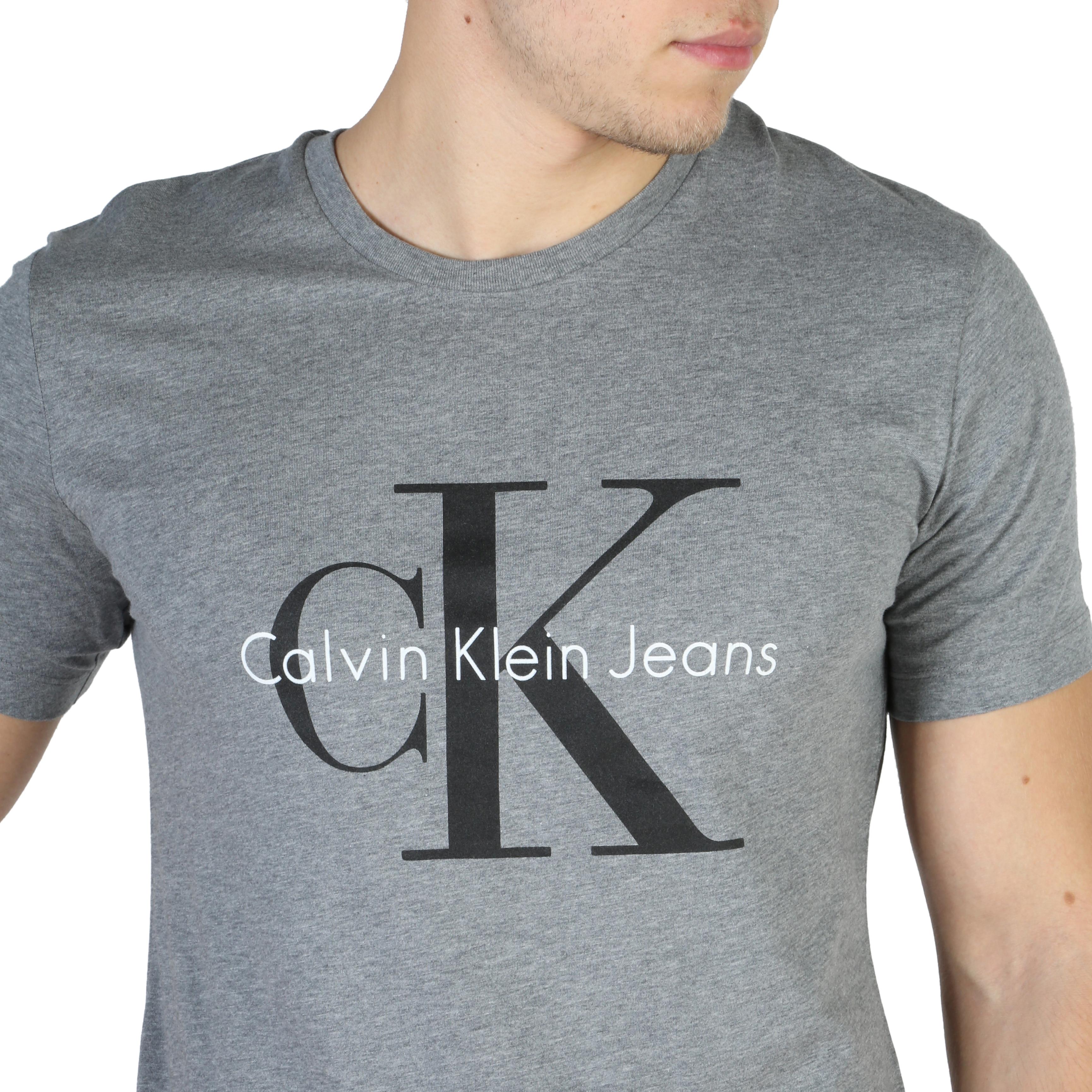 T-shirt-Calvin-Klein-J3IJ302251-Uomo-Grigio-104159 miniatura 3