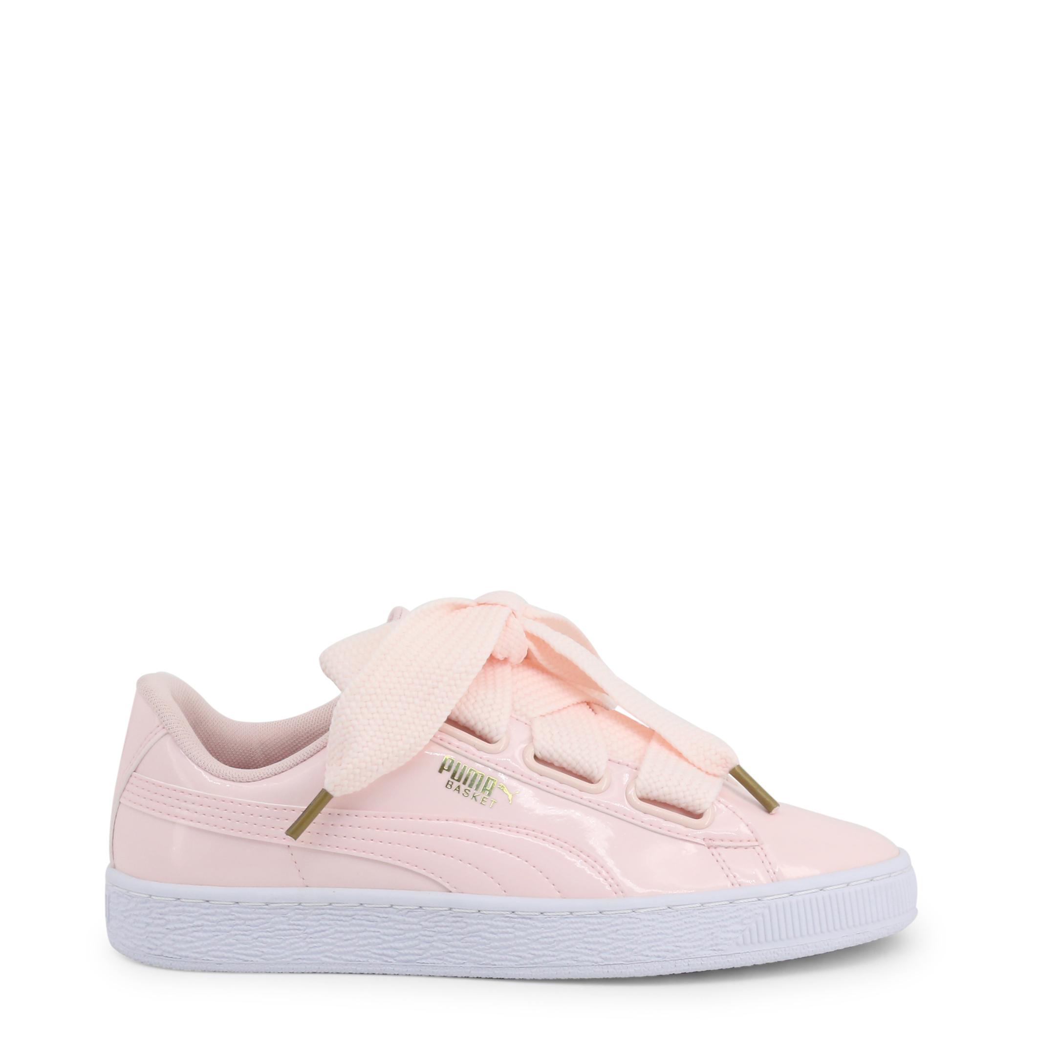 Scarpe-Puma-Donna-363073-BasketHeartPatent-Sneakers-Rosa-Bianco