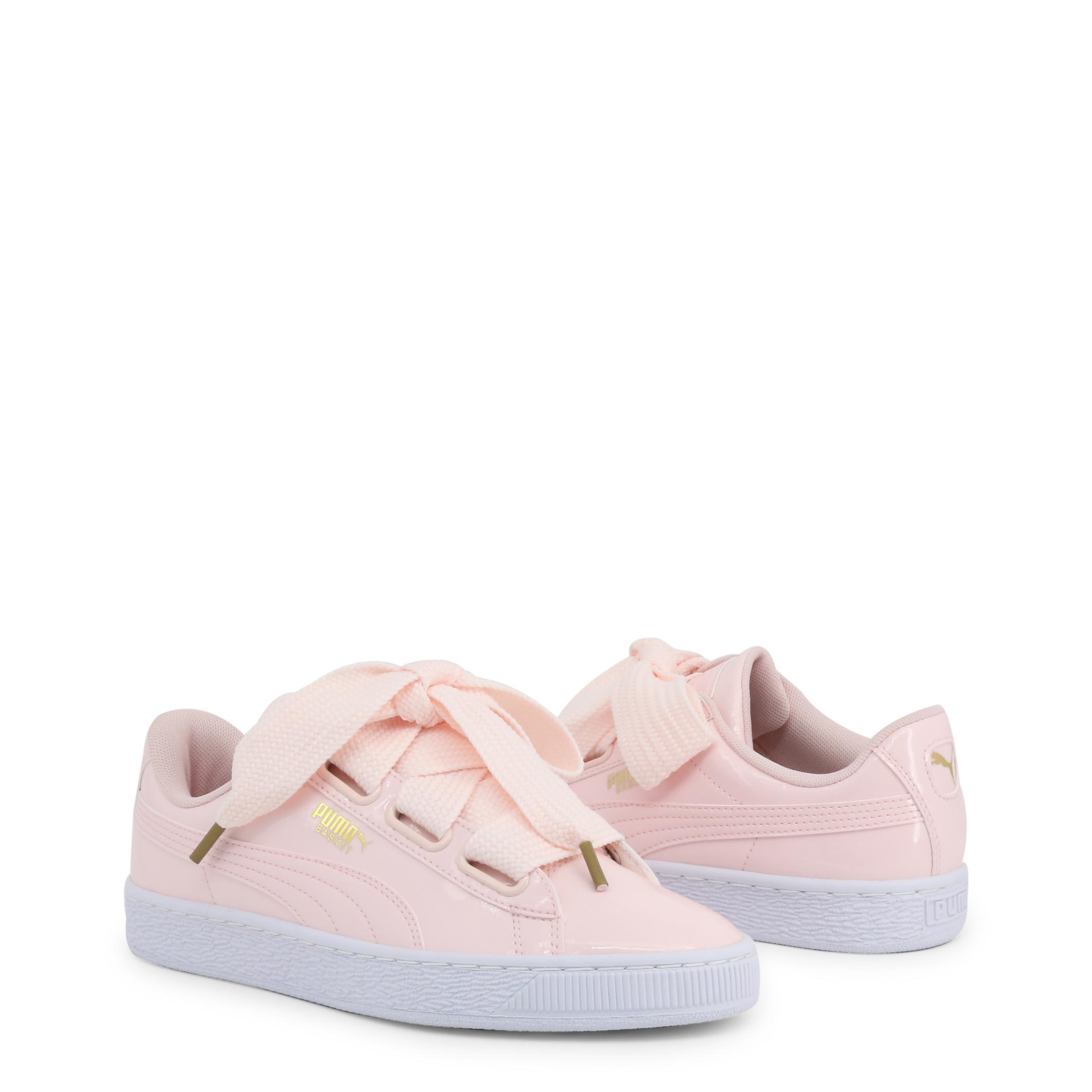 Scarpe-Puma-Donna-363073-BasketHeartPatent-Sneakers-Rosa-Bianco miniatura 2