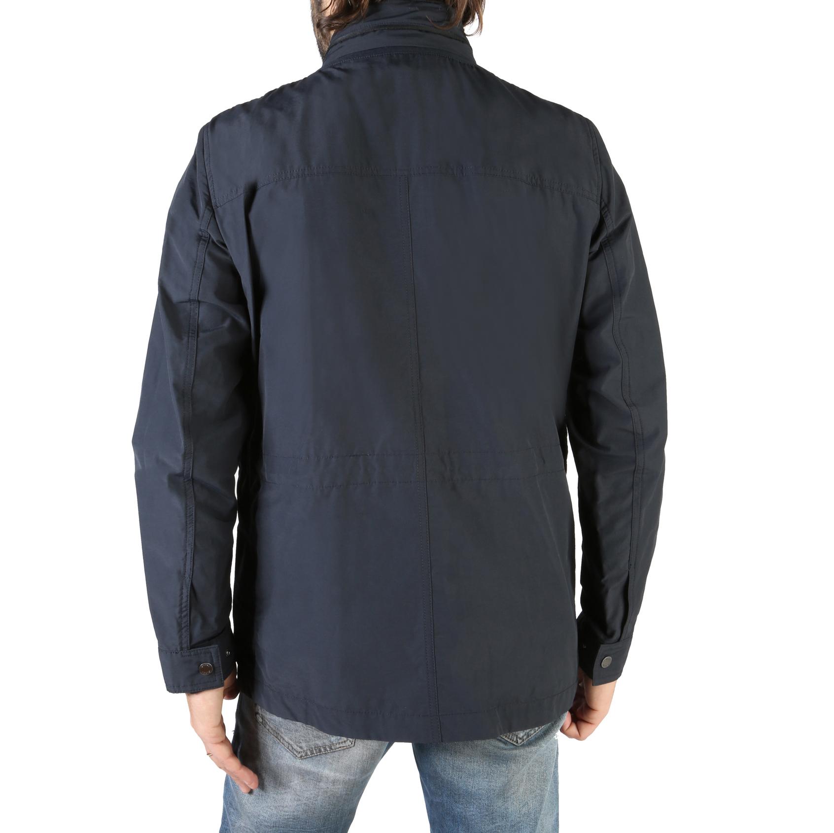 Geox-m8220ft2473-UOMO-BLU-106700-di-transizione-giacca-cotone-cappuccio-fruhlingsjac miniatura 2
