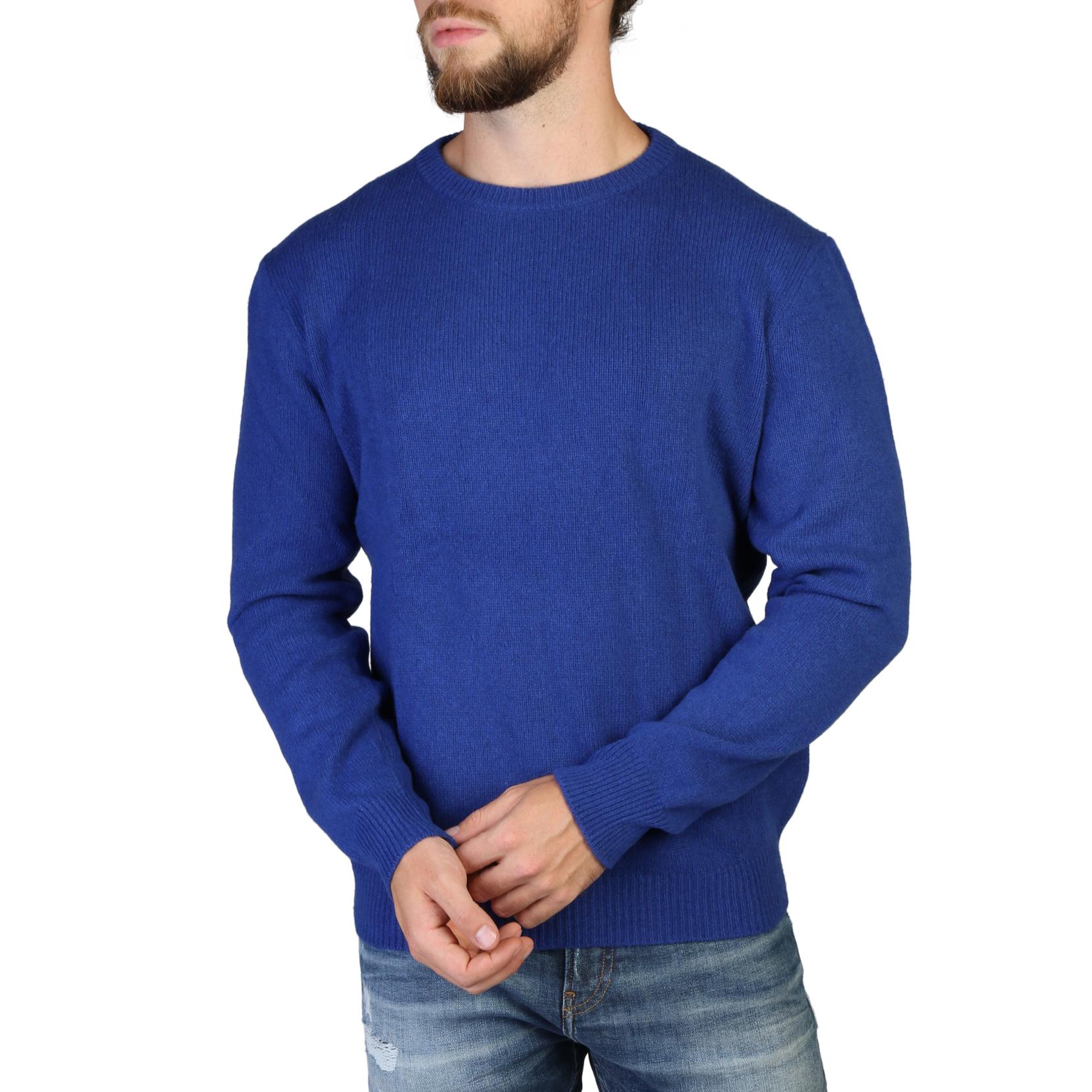 100% Cashmere - C-NECK-M - Blue