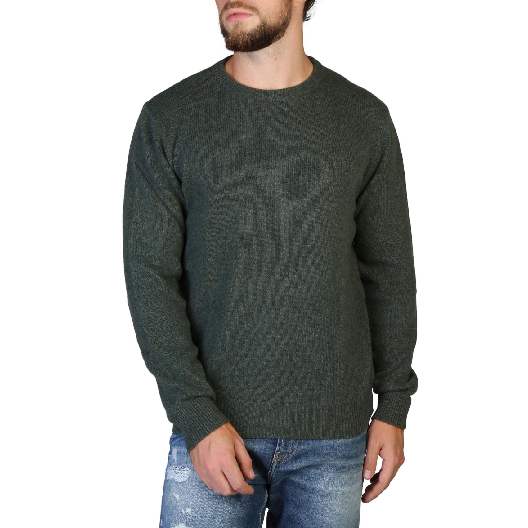 100% Cashmere - C-NECK-M - Green
