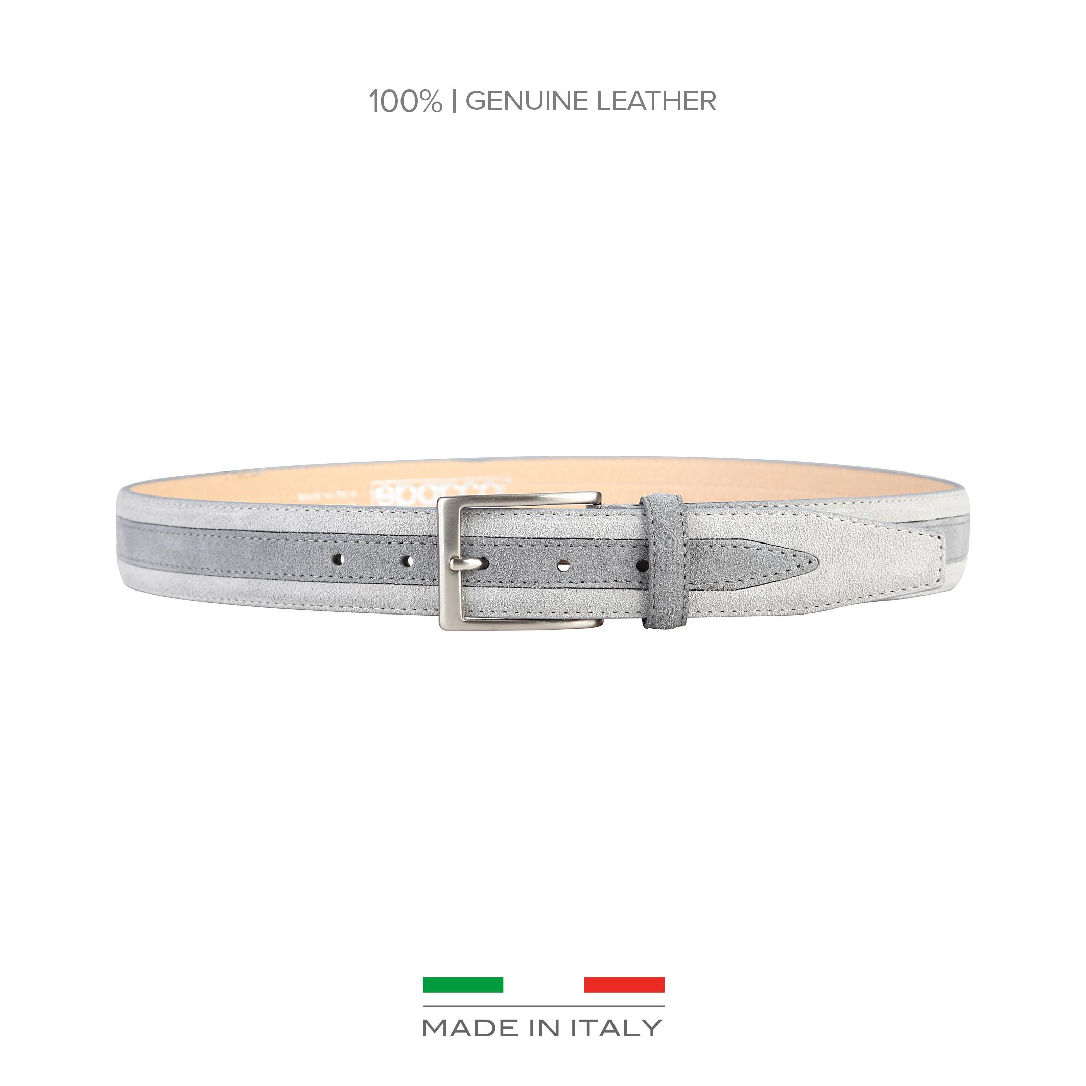 Cinturón Sparco   - 100% cuero verdadero gamuza   - ancho 3,5 cm   - un pasacinto   - logotipo en el