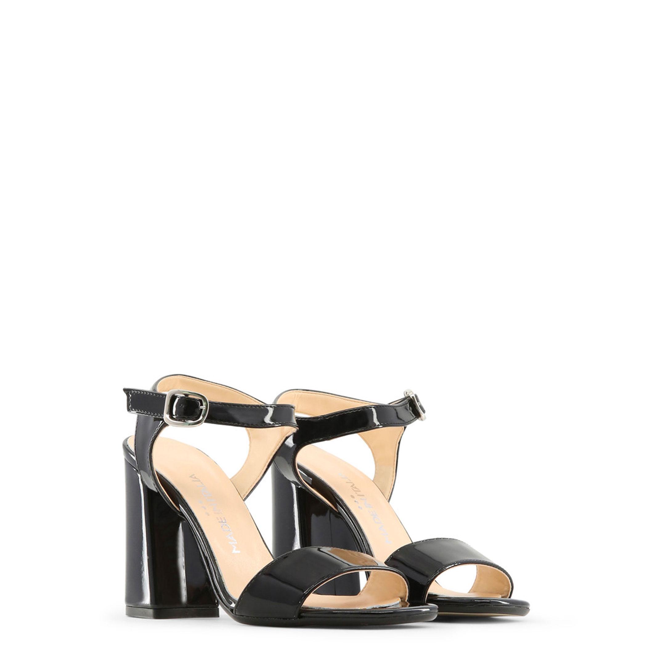 Made in Damen Italia Schuhe ANGELA, Damen in Sandalette Schwarz/Gelb/Rot Keilabsatz ed5515