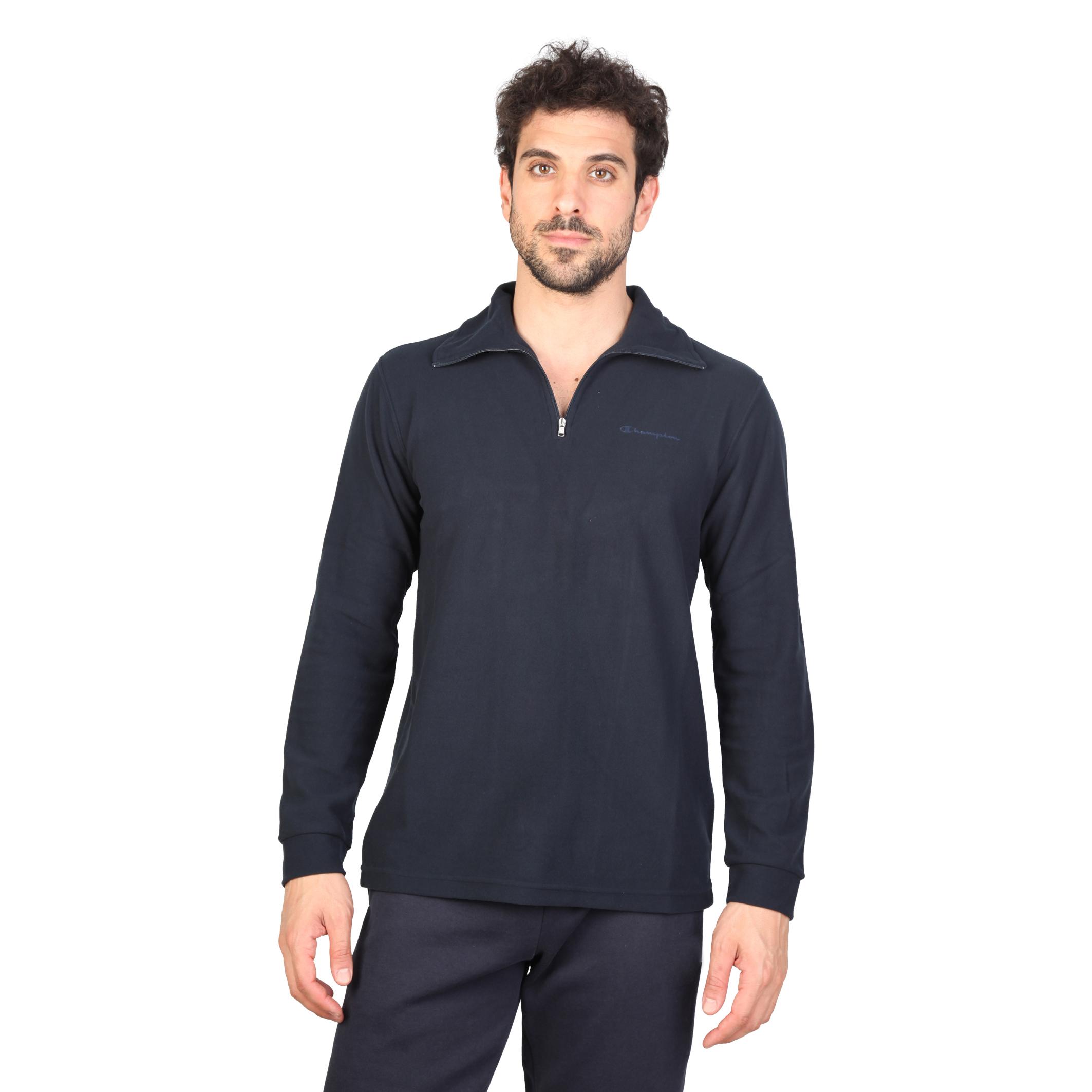 Champion   - Suéter para hombre   - Cierre con cremallera   - 100% poliéster   - Lavar a 30°C