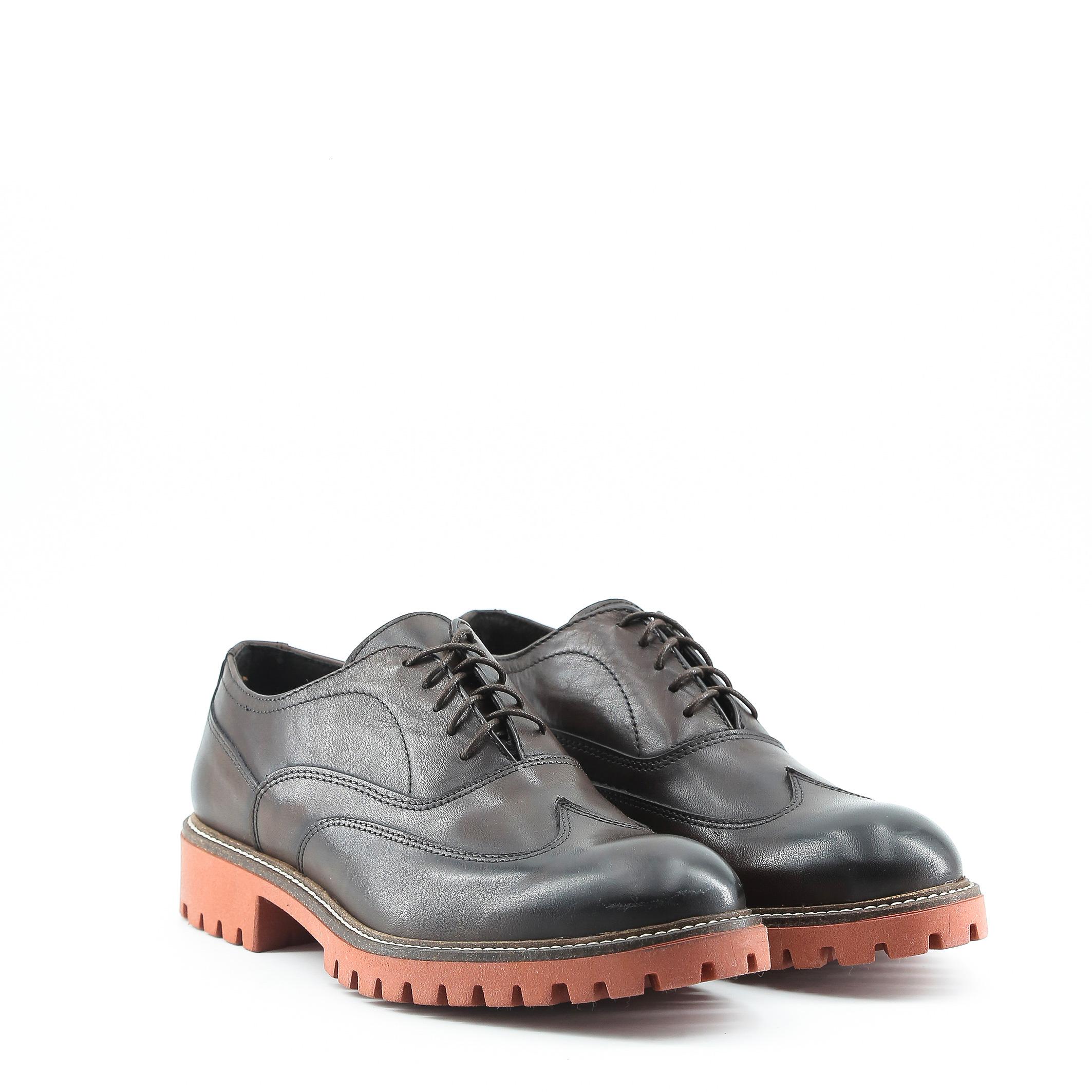 Schuhe LUCA, Herren Schnürschuhe elegante Braun/Schwarz elegante Schnürschuhe Halbschuh 307434