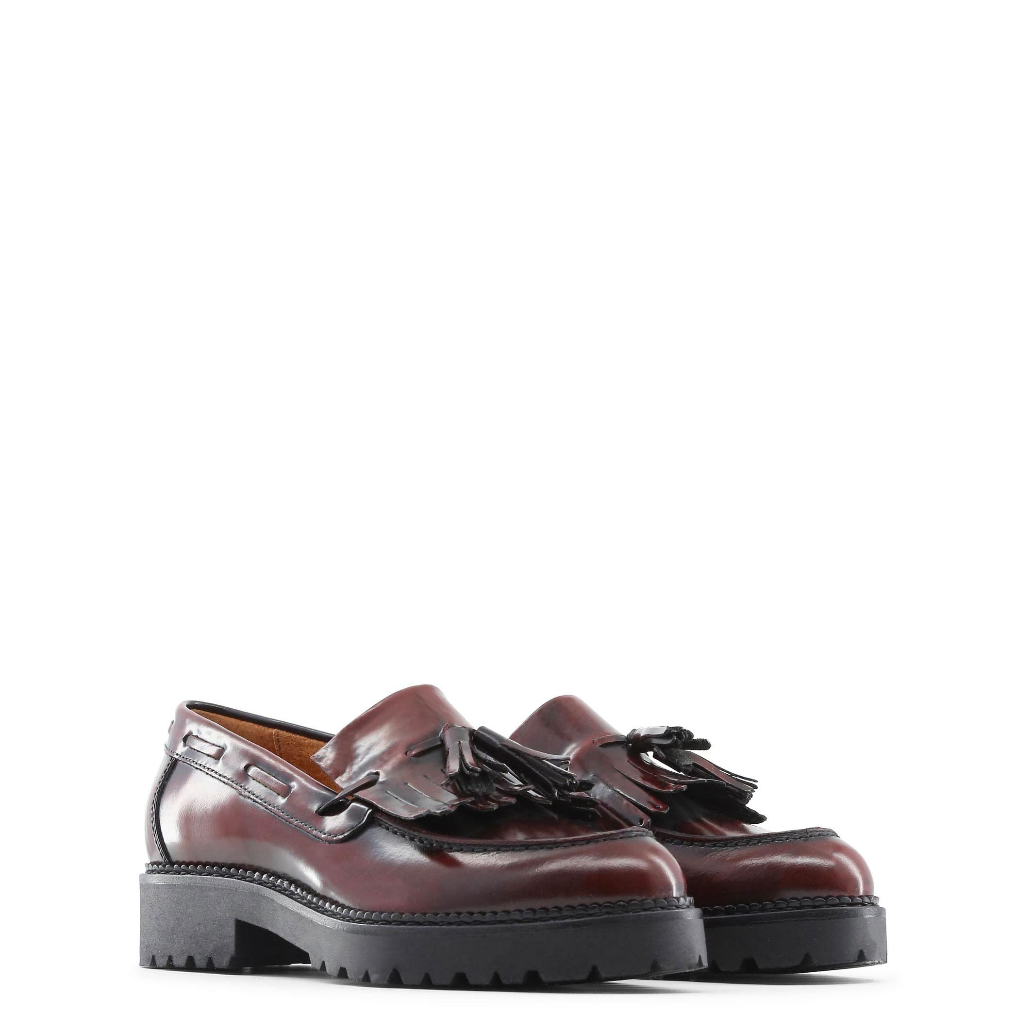 Made in Italia Schuhe LORELLA, Halbschuhe Damen Mokassins Rot/Schwarz elegante Halbschuhe LORELLA, fc901f