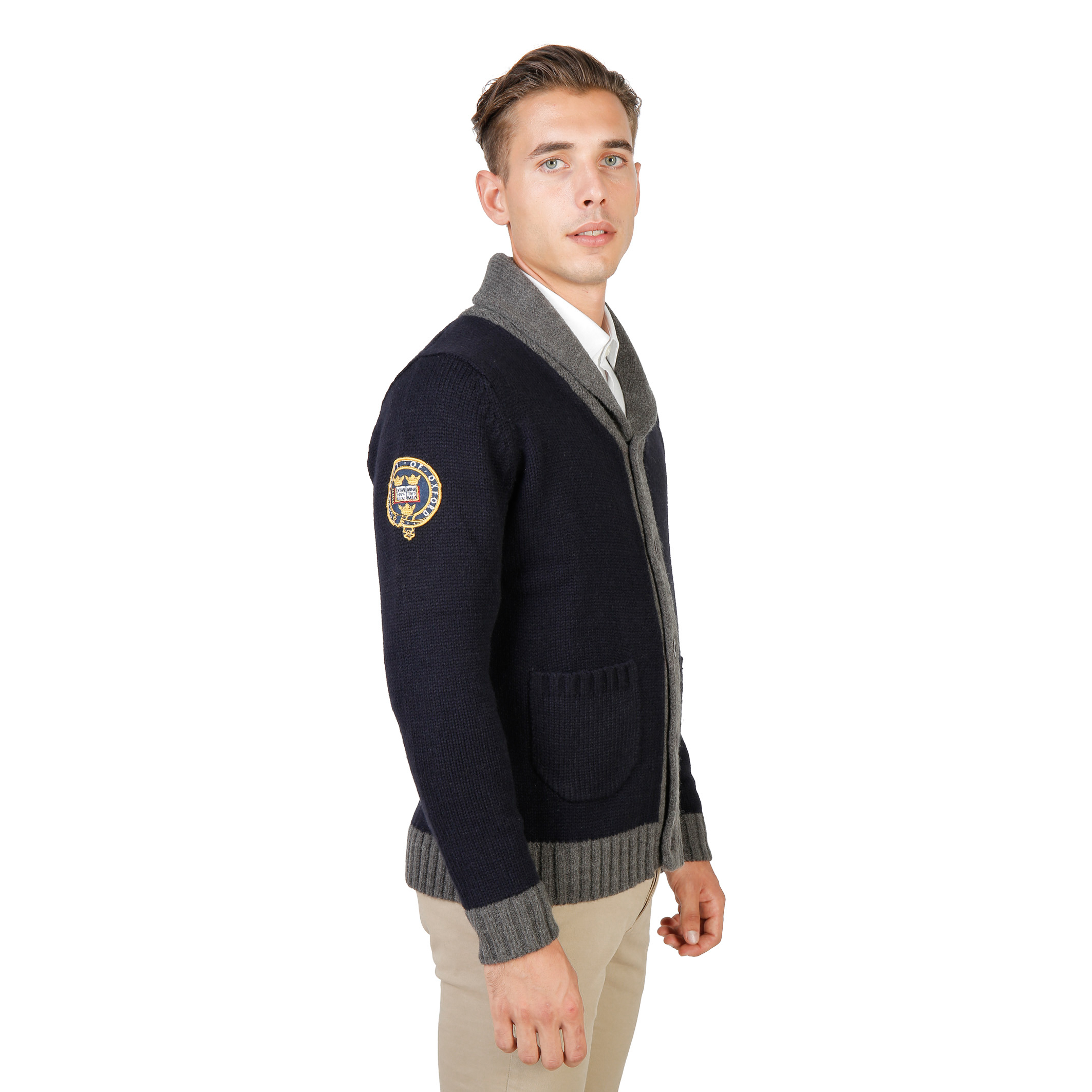 Oxford University OXFORD_TRICOT-CARDIGAN Uomo Blu 73930
