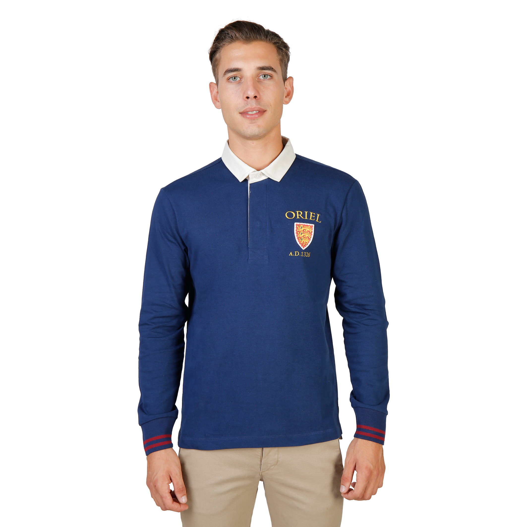 Oxford University ORIEL-POLO-ML Uomo Blu 74054