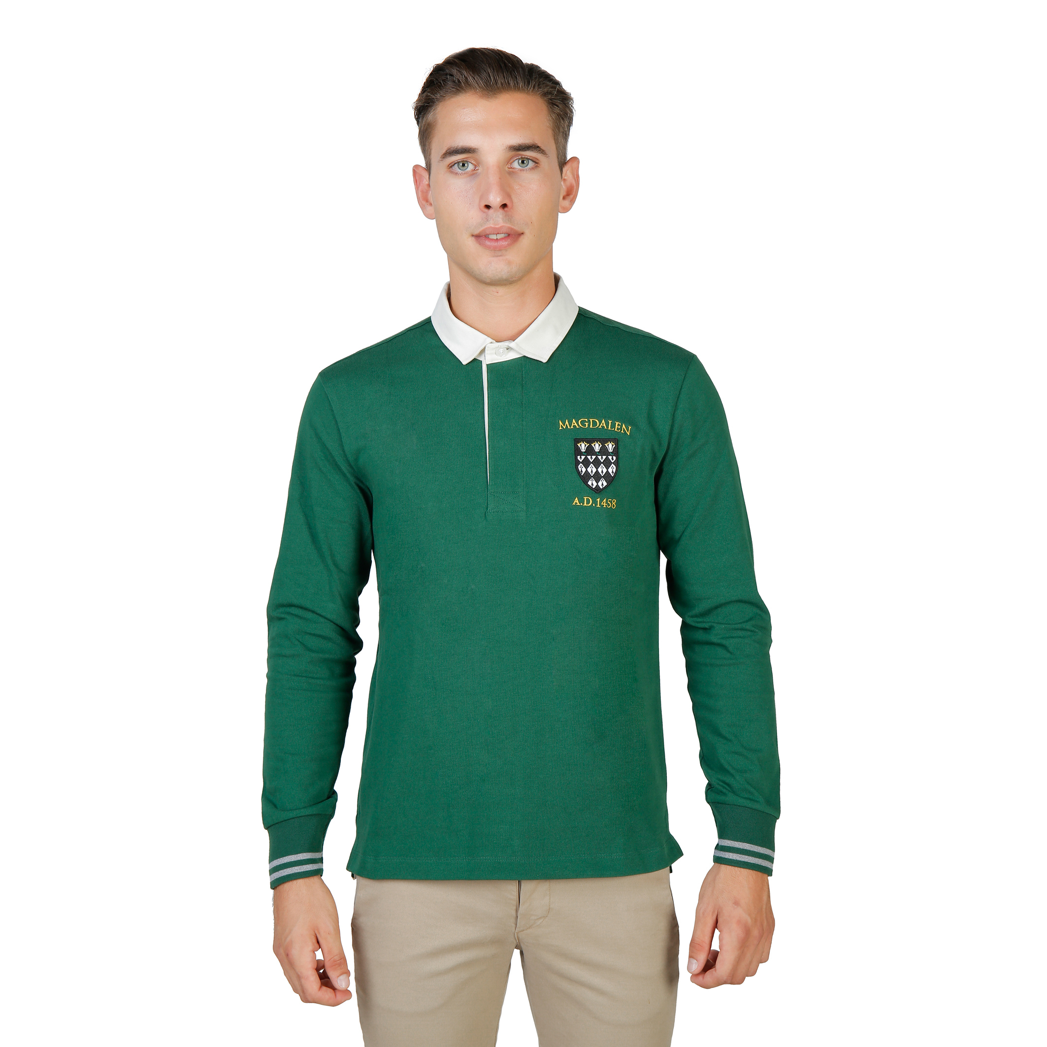 Oxford University MAGDALEN-POLO-ML Uomo Verde 74055