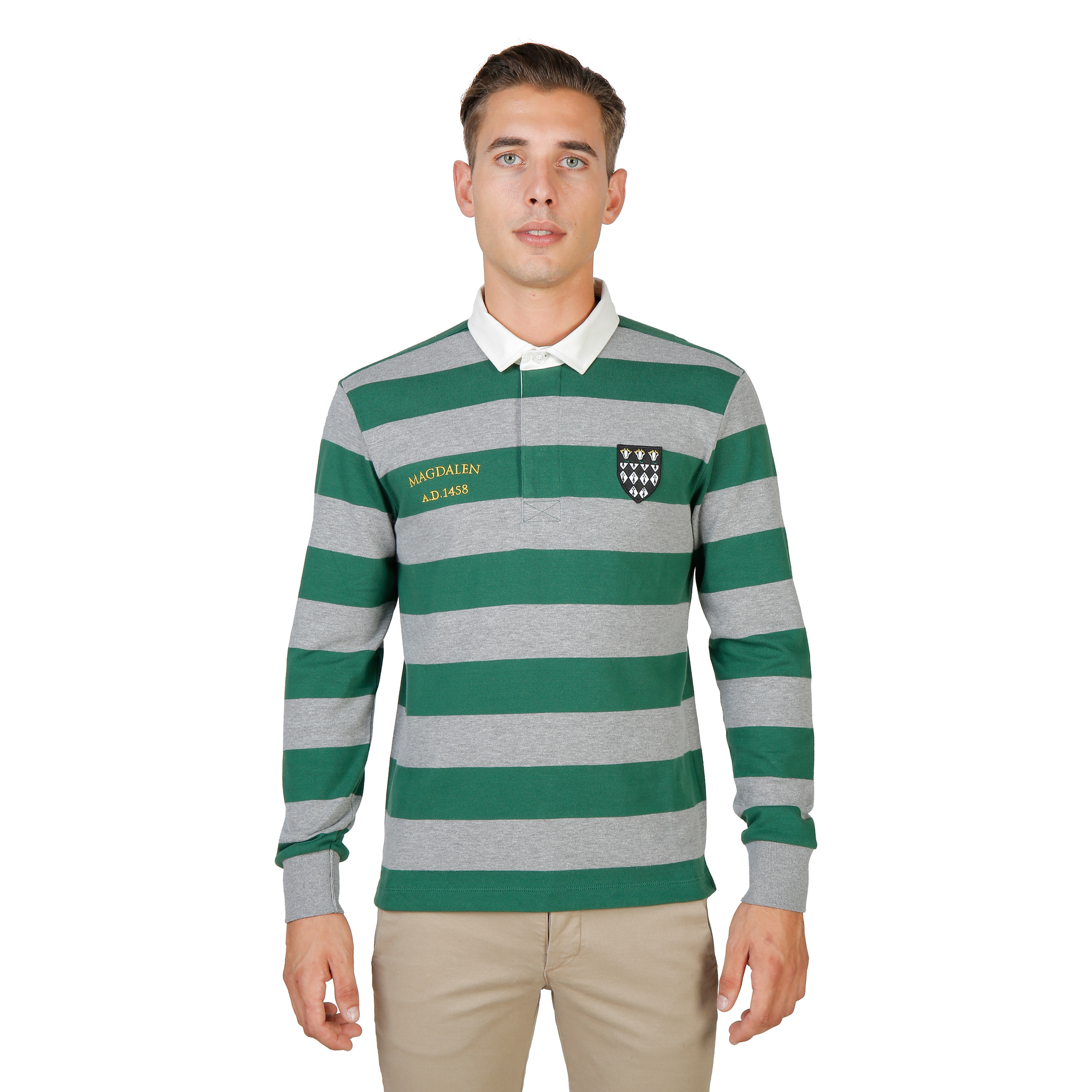 Oxford University MAGDALEN-RUGBY-ML Uomo Verde 74059