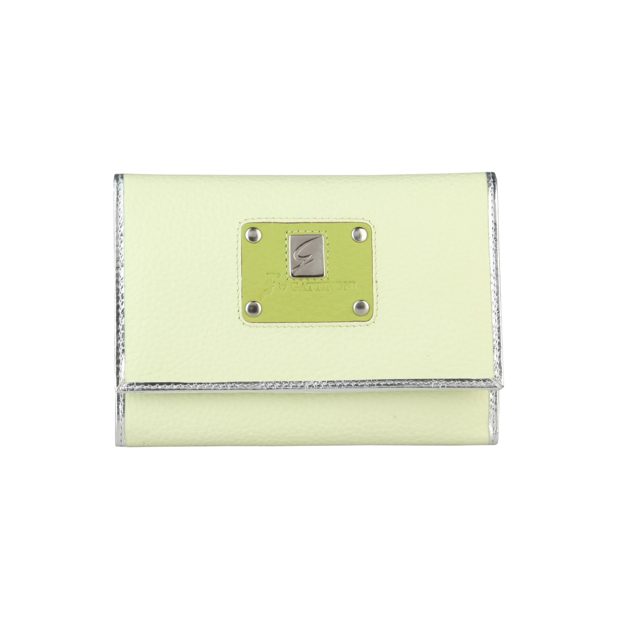 Gattinoni  - Colección mujeres   - Cartera para mujeres en cuero con logotipo.   - porta tarjetas de