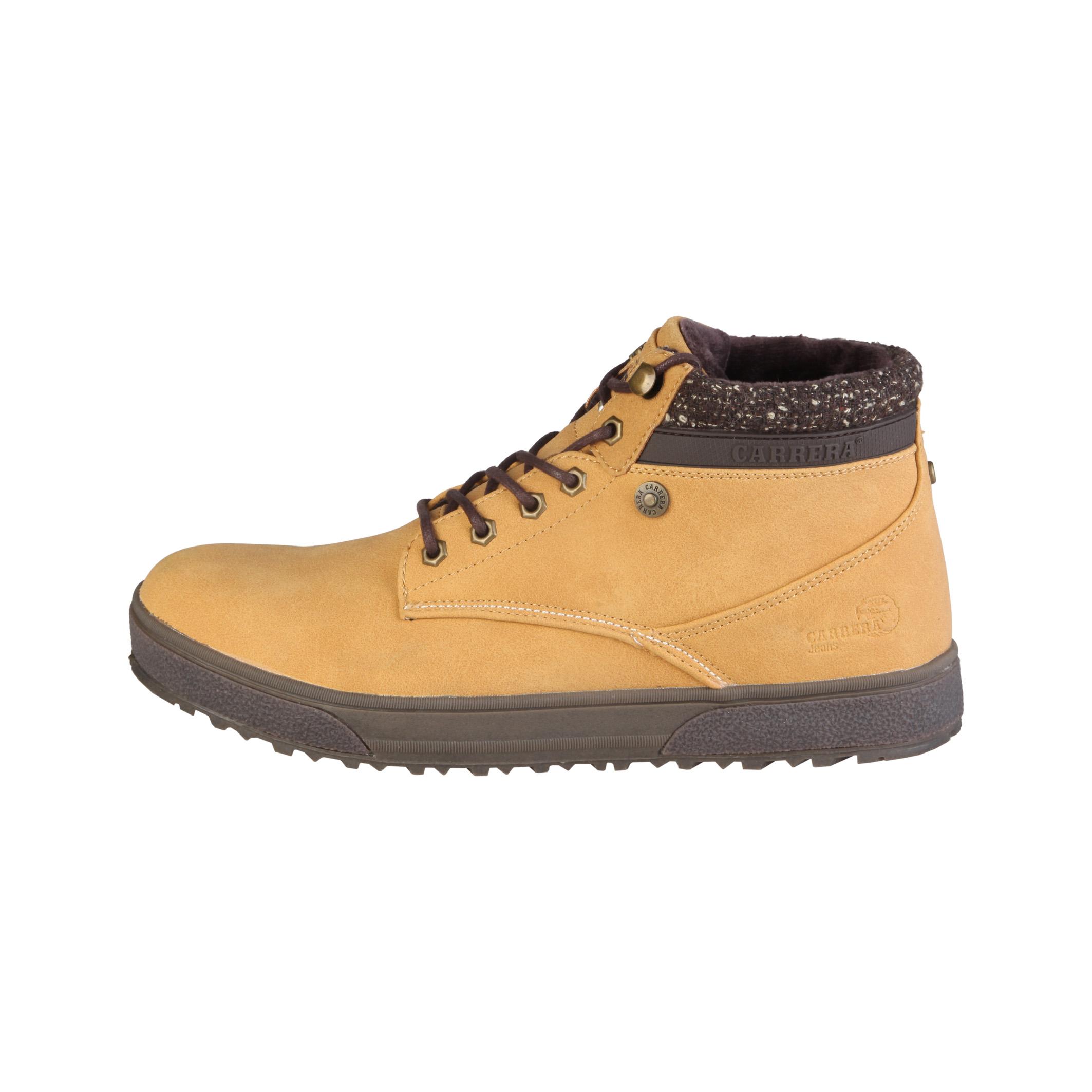 Carrera Jeans  - Botas bajas con cordones y cuello acolchado  - Empeine: eco-cuero y tejido  - Ojete