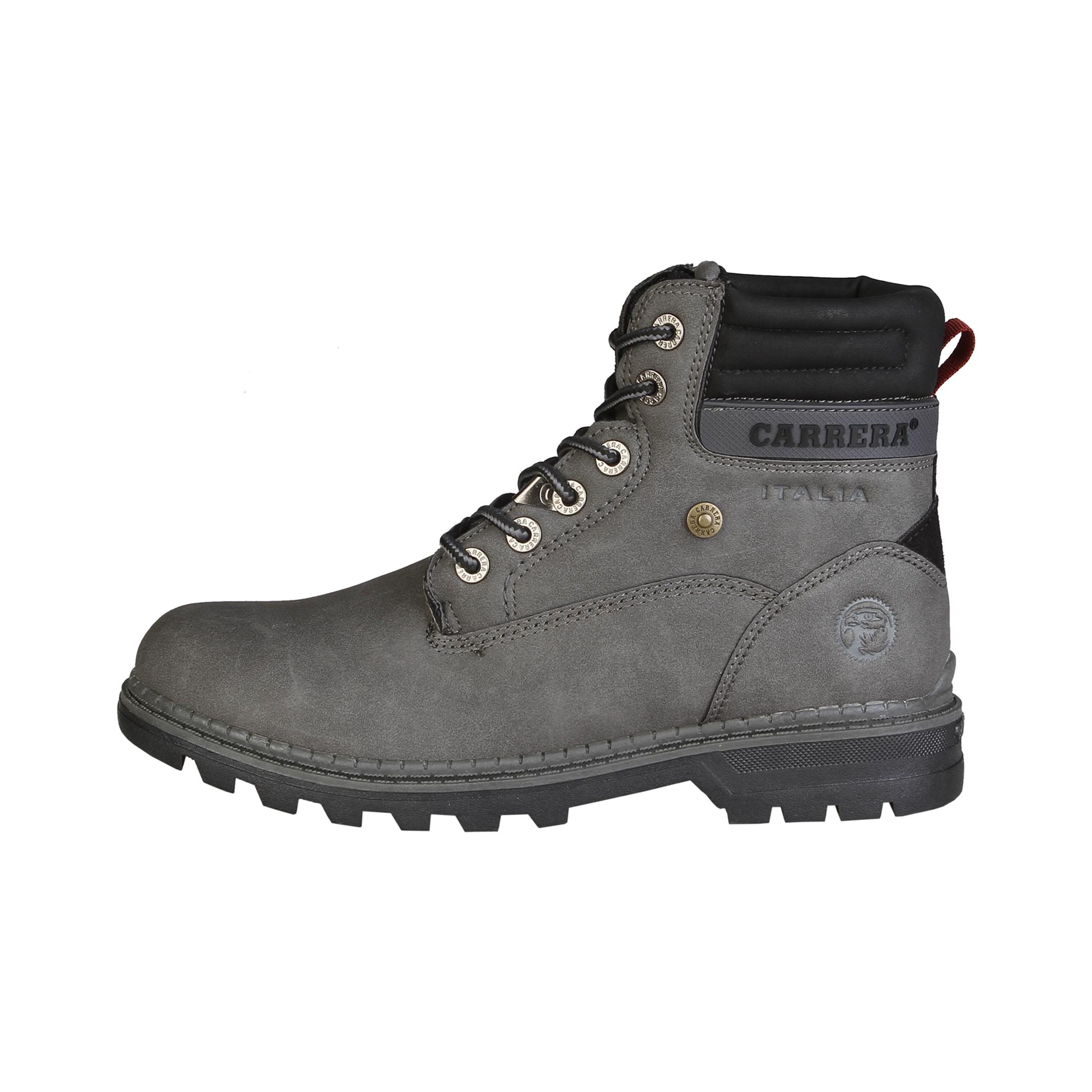 Carrera Jeans  - Botas altas con cordones y cuello acolchado  - Empeine: eco-cuero y tejido  - Ojete