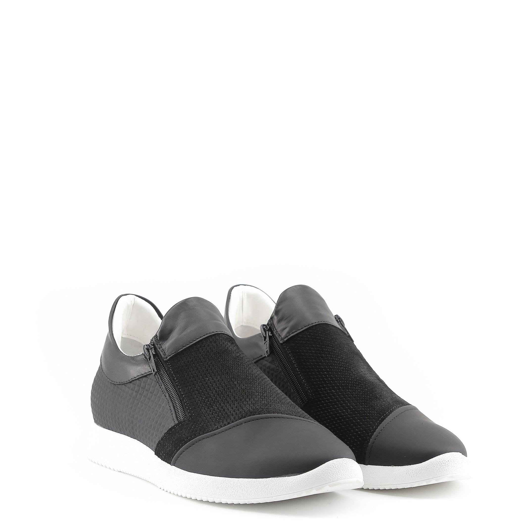 Scarpe-Made-in-Italia-Uomo-GIULIO-Sneakers-Grigio-Nero miniatura 3