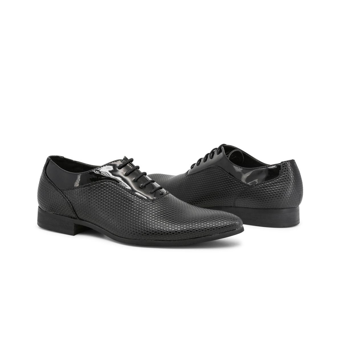 Scarpe-stringate-Duca-di-Morrone-ARTHUR-Uomo-Nero-82357 miniatura 3