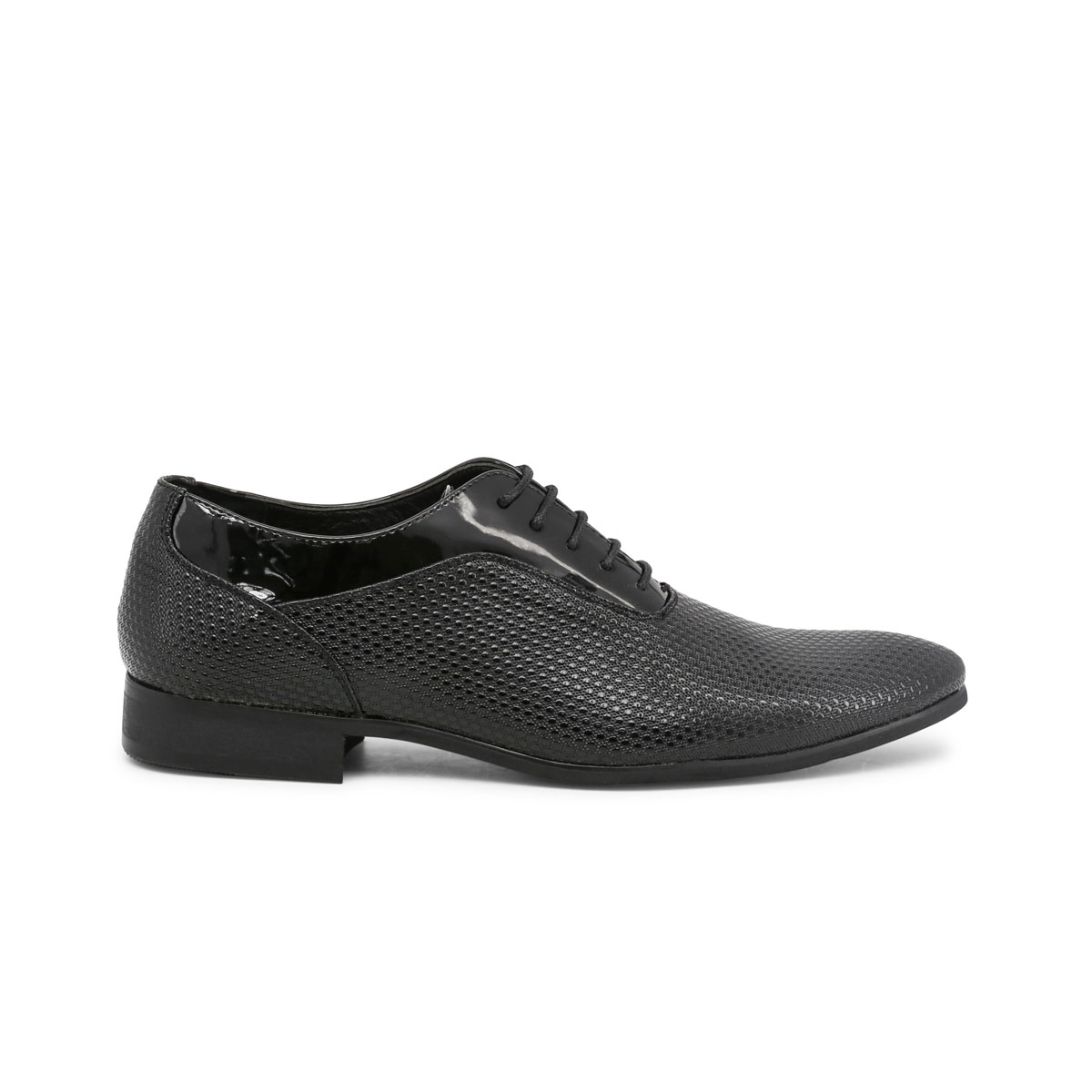 Scarpe-stringate-Duca-di-Morrone-ARTHUR-Uomo-Nero-82357 miniatura 2
