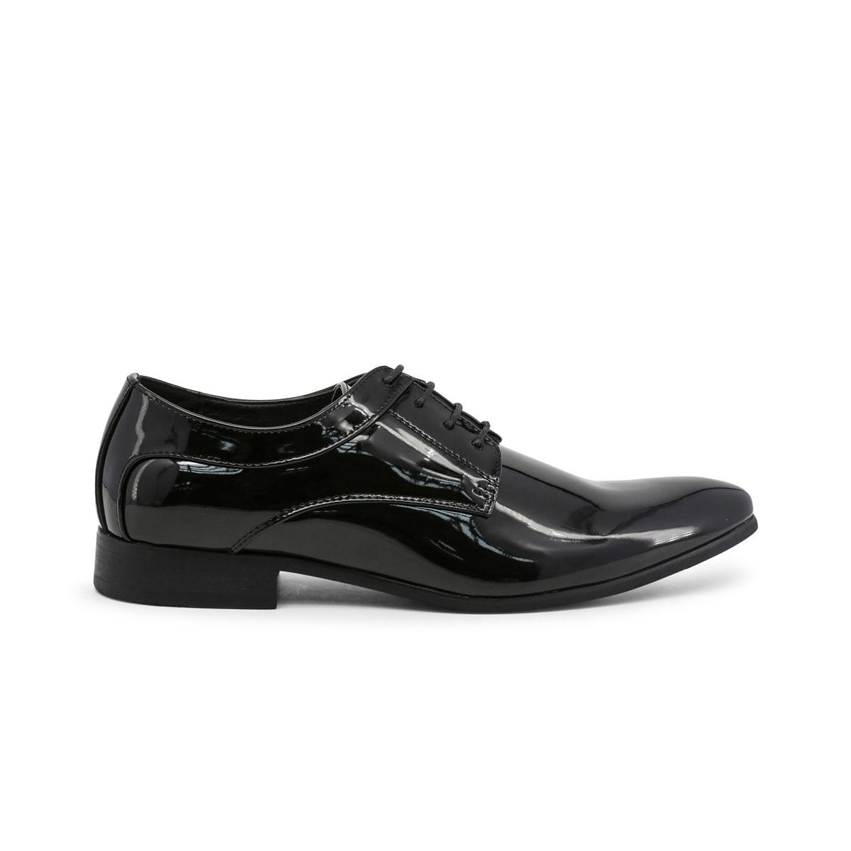 Scarpe-stringate-Duca-di-Morrone-GEORGE-Uomo-Nero-82358 miniatura 2