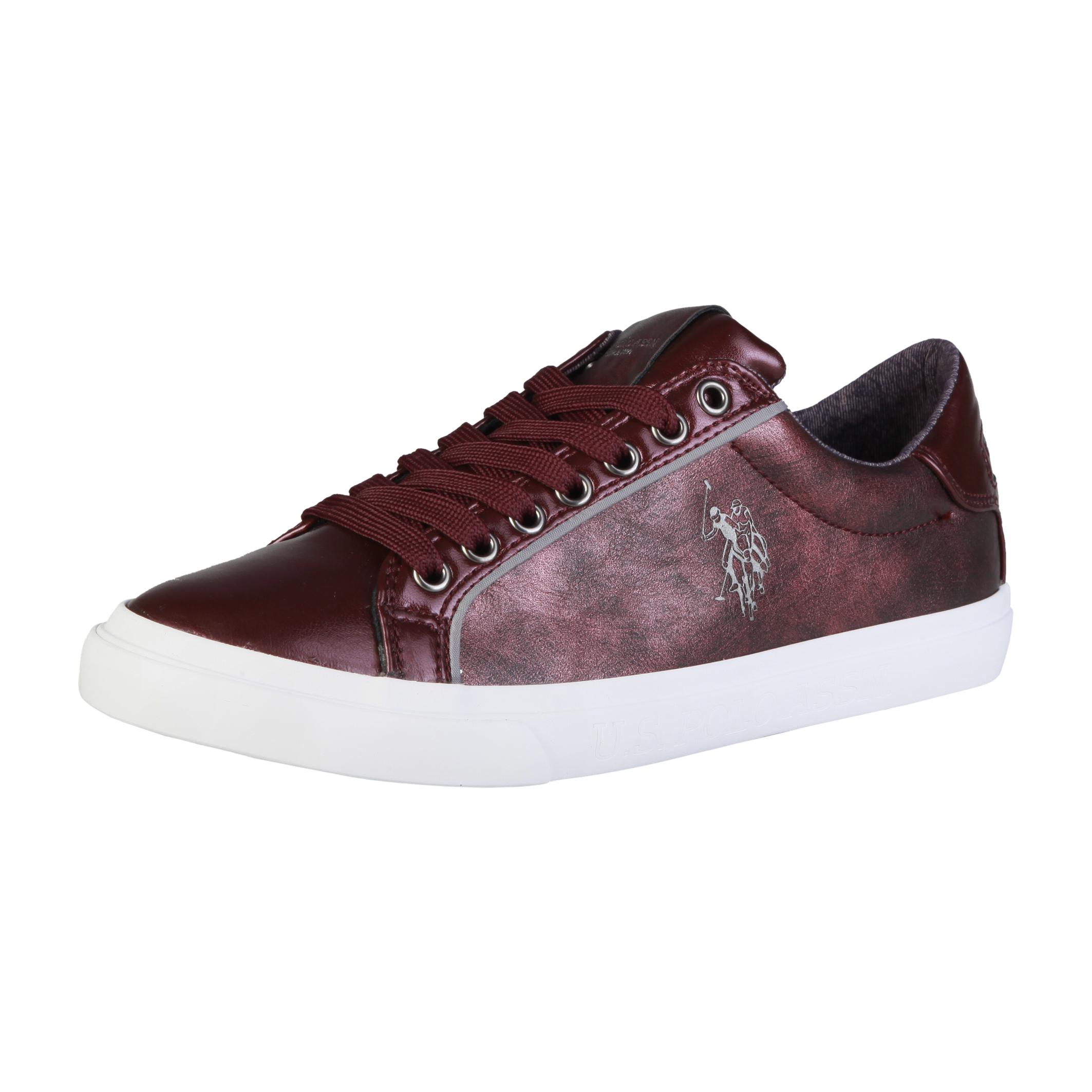 U.S. Polo Schuhe WILMA7176W7, Damen Sneakers Rot/Grau Herbst/Winter