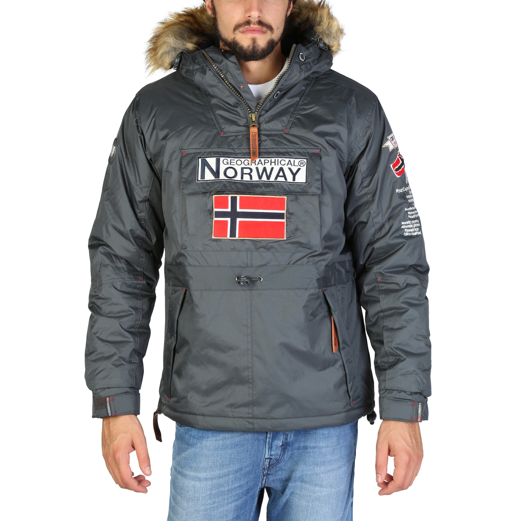 Giacche Geographical Norway Boomerang_man Uomo Grigio 86637