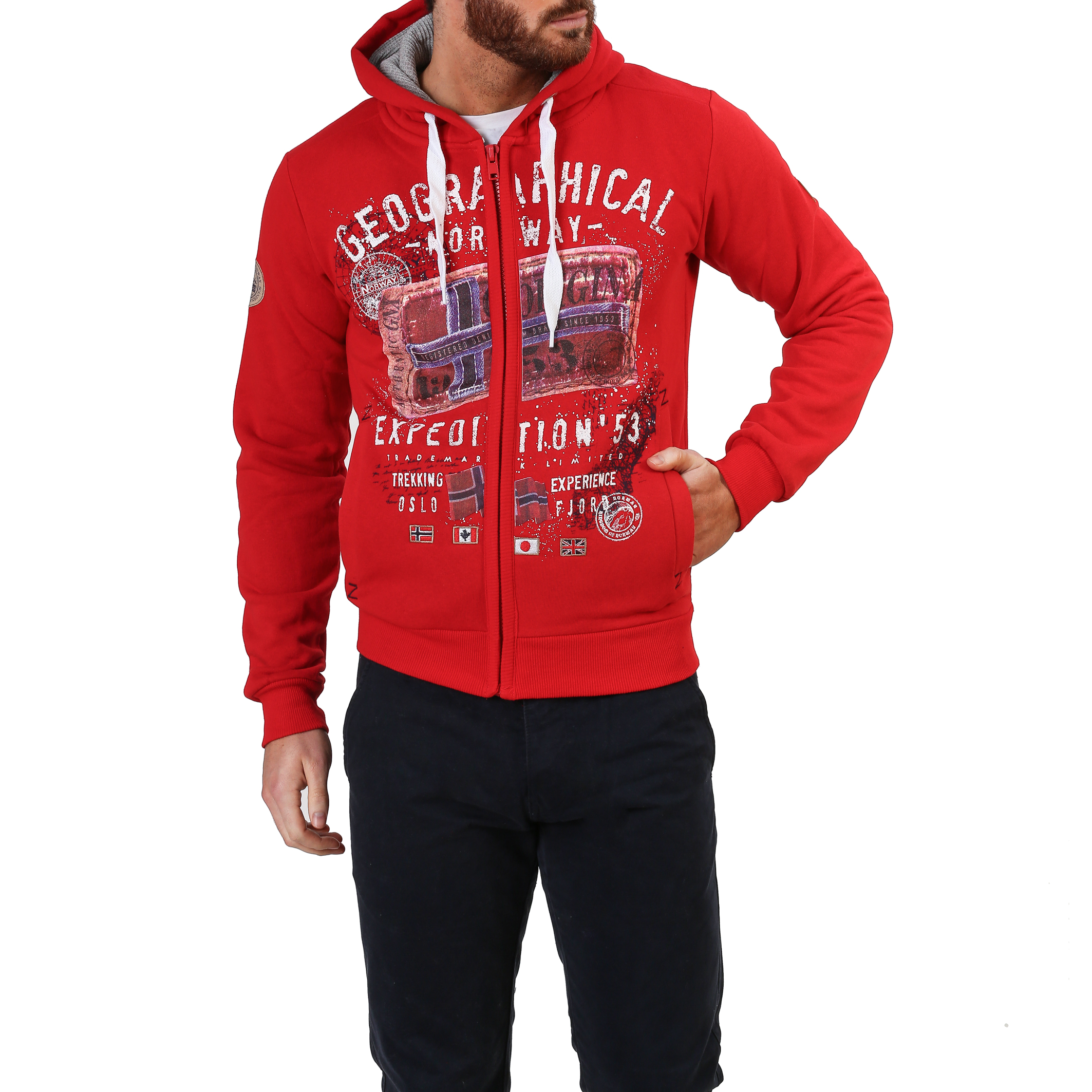 Geographical Norway Filliam_man Uomo Rosso 87378