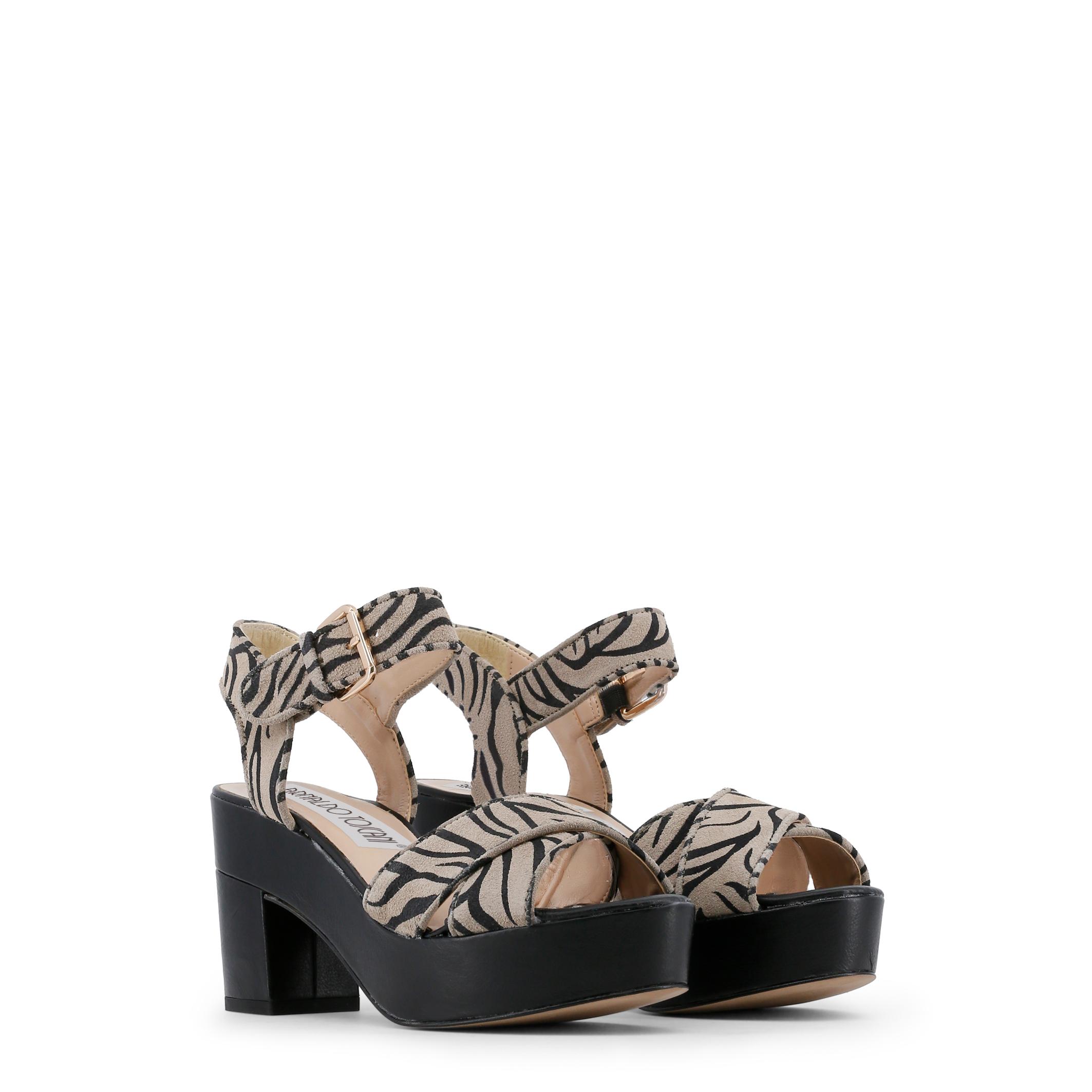 Arnaldo Toscani Schuhe 8074101, Damen Sandaleette Schwarz/Schwarz/Grau Frühling/S