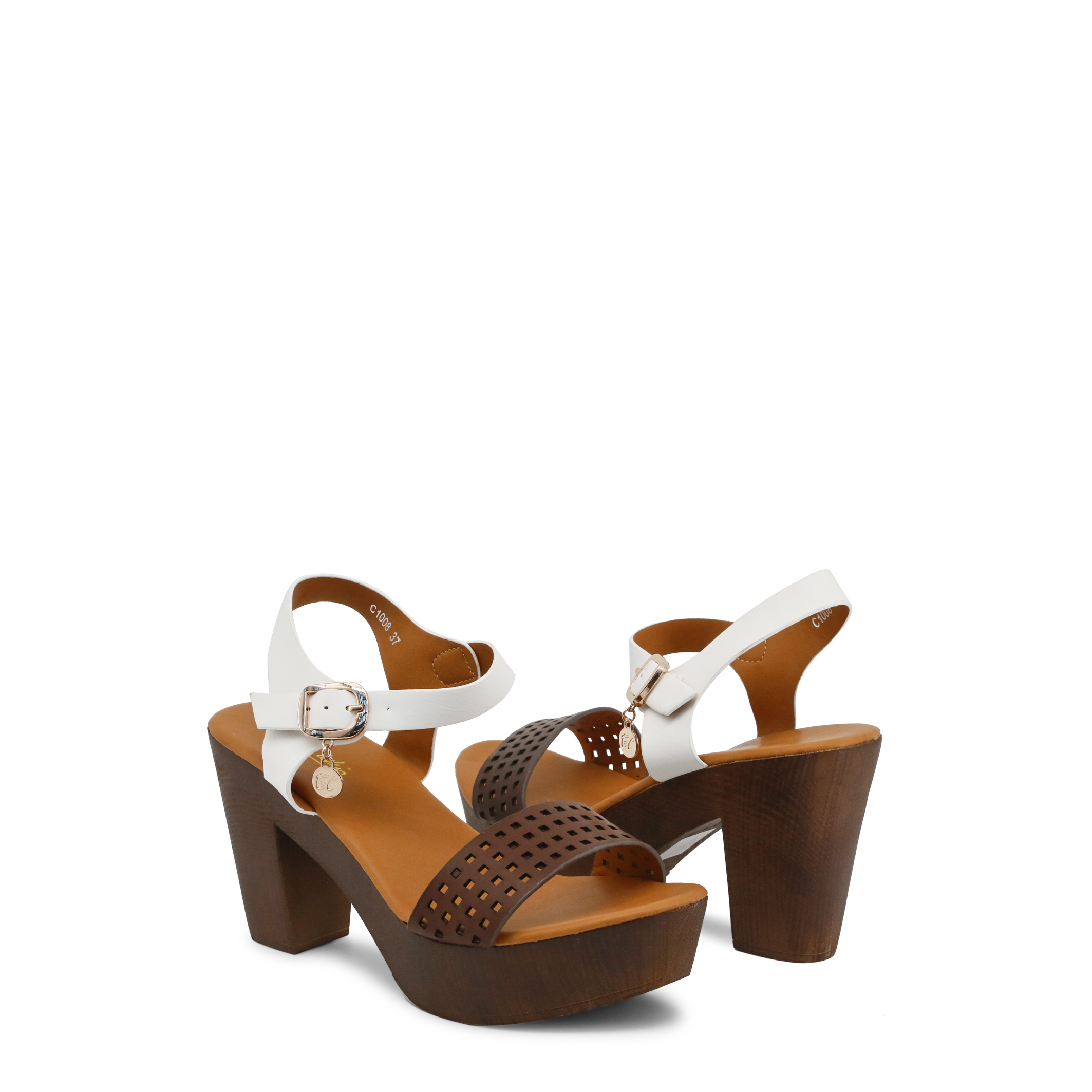 Zapatos Enrico Coveri Mujer C1008 CALF Zuecos Marrón/Marrón/Marrón Primavera/Ve