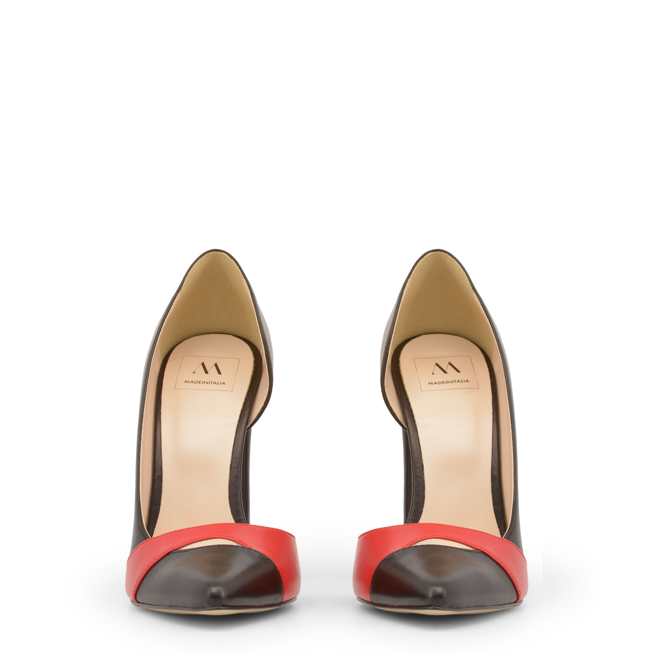 Made-in-Italia-Designer-Markenschuhe-Schuhe-Damen-High-Heels-Schwarz-Schuh Indexbild 3