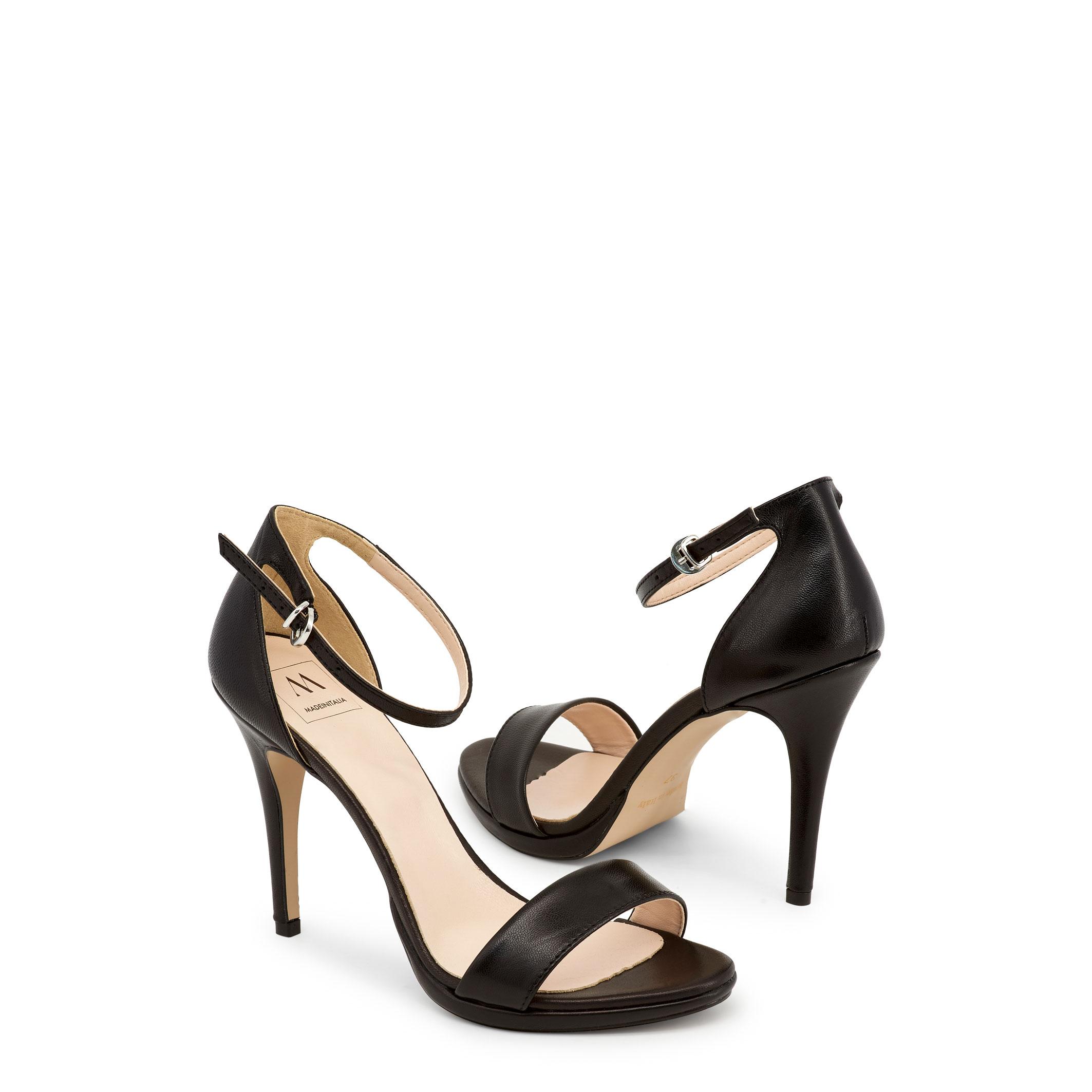 Made in Italia Schuhe LA GELOSIA, Damen Sandalette Rot/Schwarz Keilabsatz
