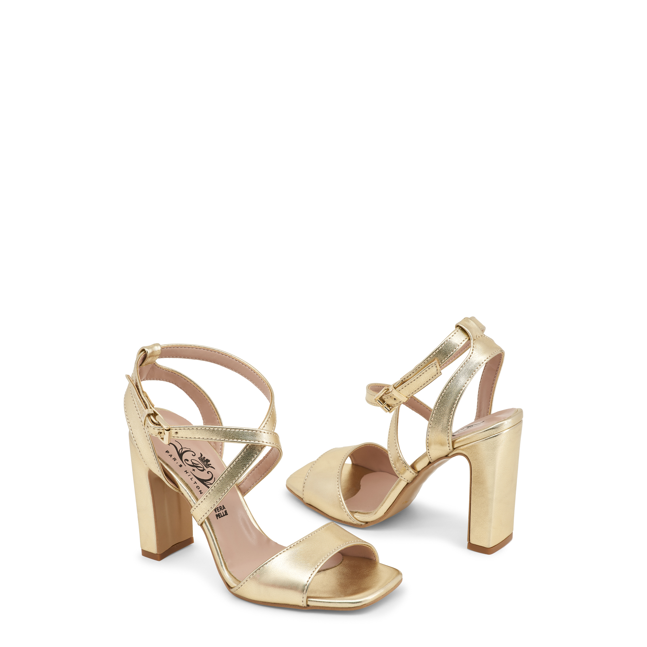 Paris Hilton Schuhe 1519, Violett/Grau/Gelb Damen Sandalette Violett/Grau/Gelb 1519, Keilabsatz e26b52
