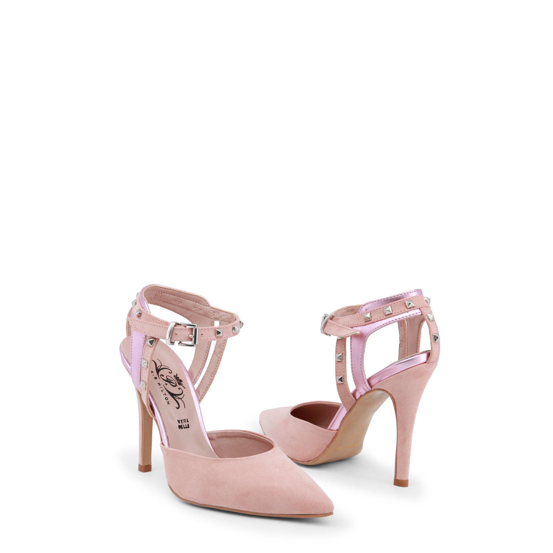 Paris Sandalette Hilton Schuhe 2762, Damen Sandalette Paris Rot/Rosa/Schwarz Keilabsatz f6bfcb