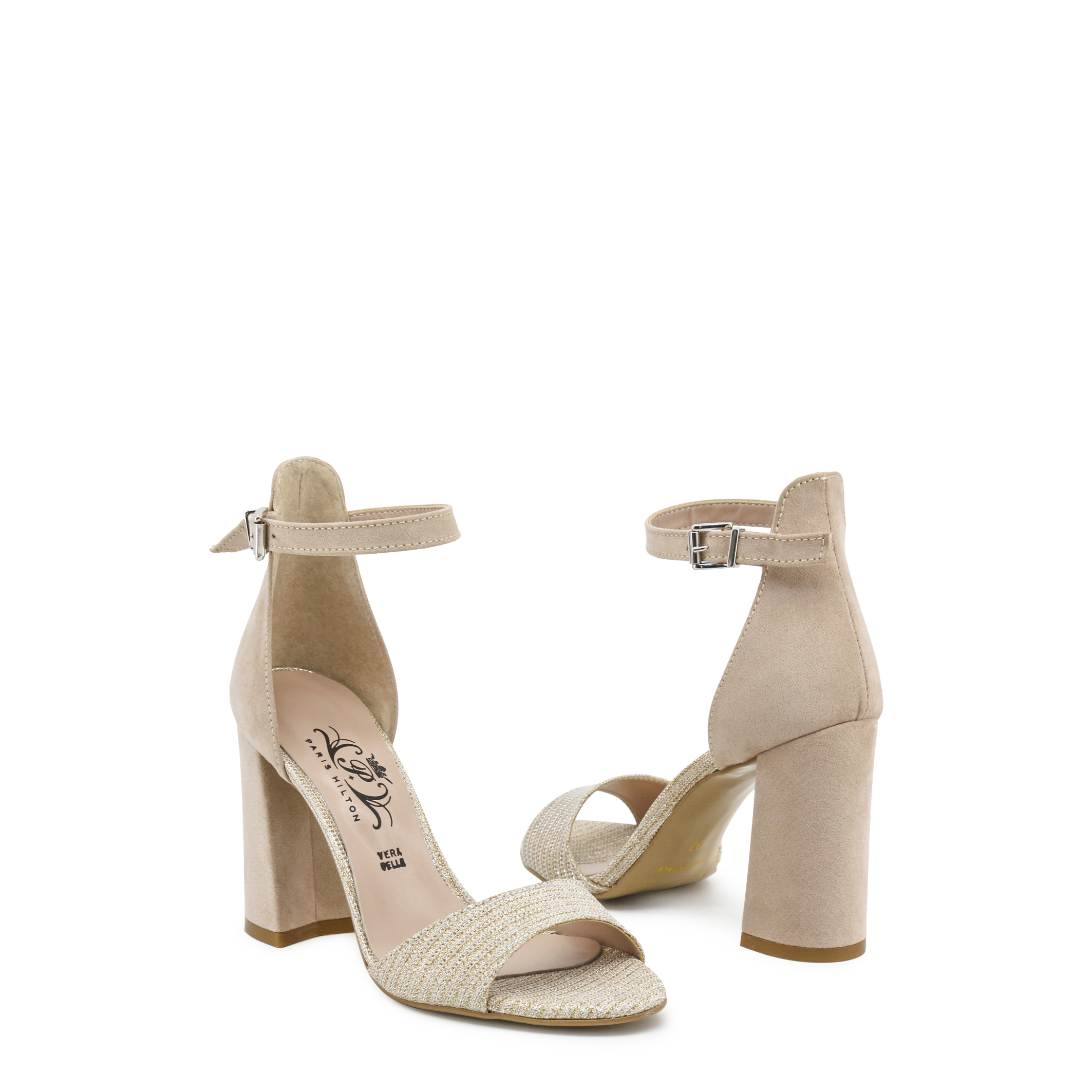 Zapatos-Paris-Hilton-Mujer-92-Sandalias-Rosa-Negro-cuna-tacon