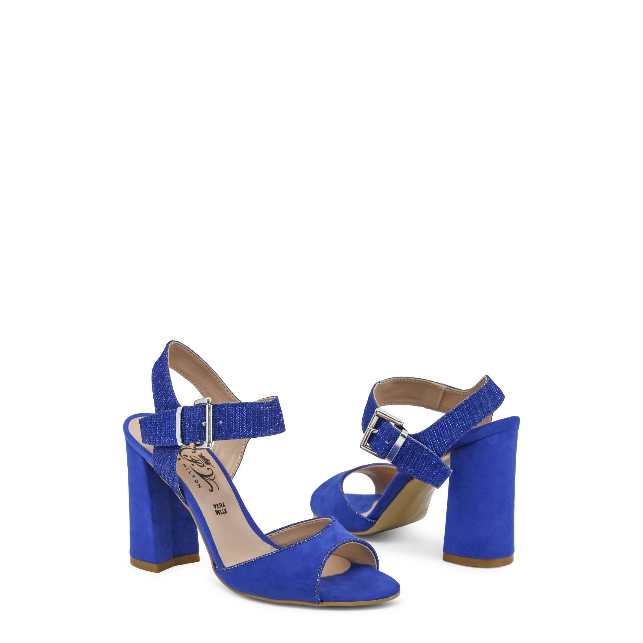 Zapatos Mujer 90Sandalias Paris Tacón Rojoazul De Hilton Cuña Detalles EH9IYDW2