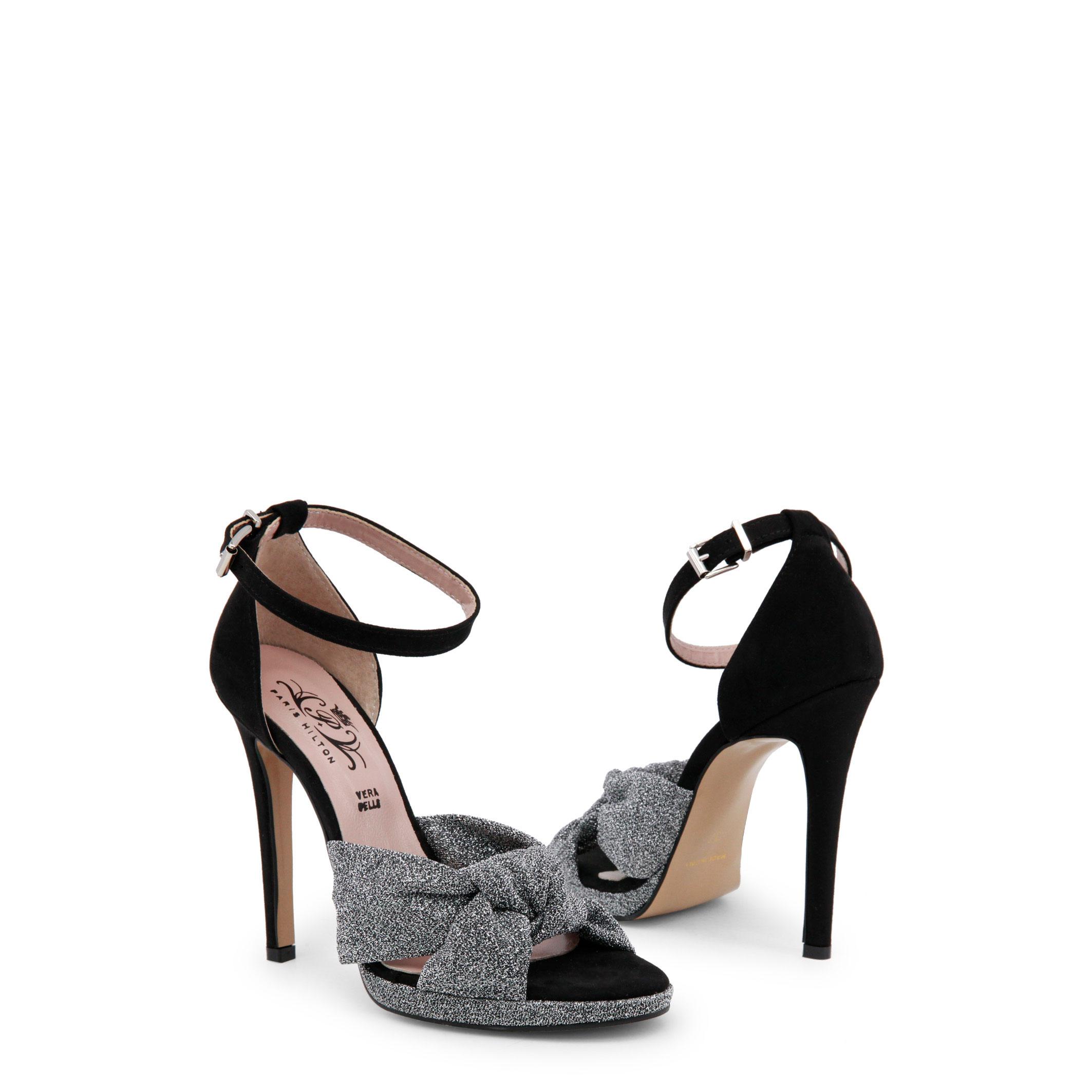 Paris-Hilton-Designer-Markenschuhe-Schuhe-Damen-Sandalette-Schwarz-Schuh Indexbild 2