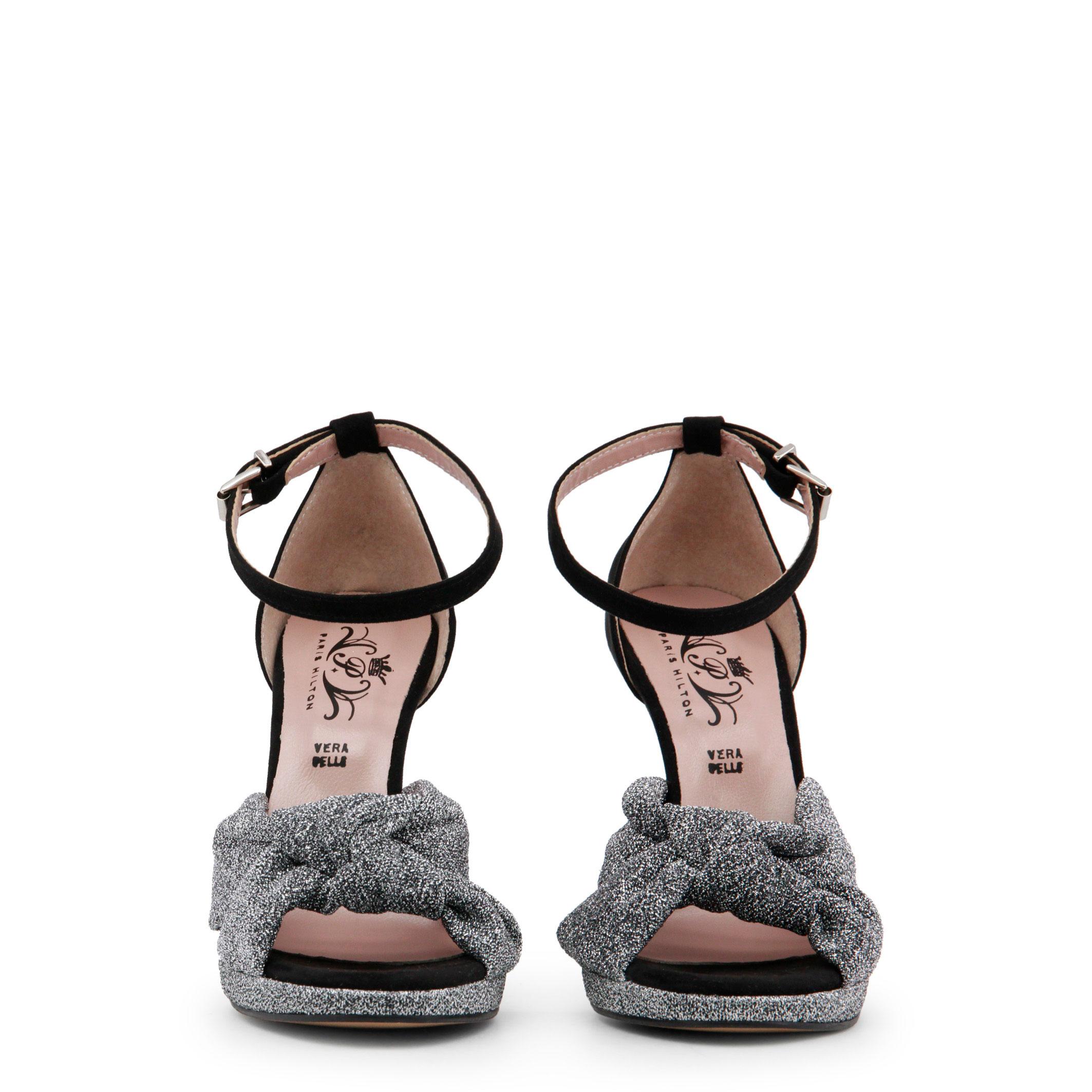 Paris-Hilton-Designer-Markenschuhe-Schuhe-Damen-Sandalette-Schwarz-Schuh Indexbild 3