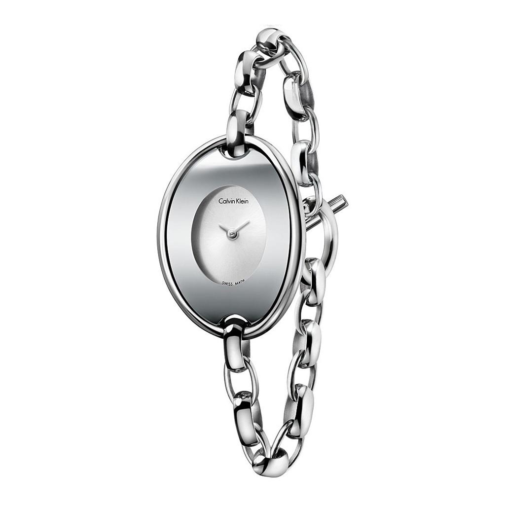 Orologi Calvin Klein K3H2M1 Donna Grigio 91594