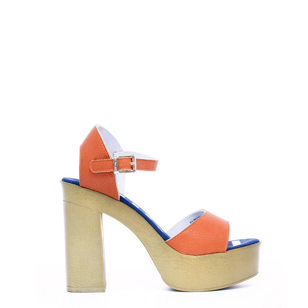 U.S. Polo Sandalias naranja mujer