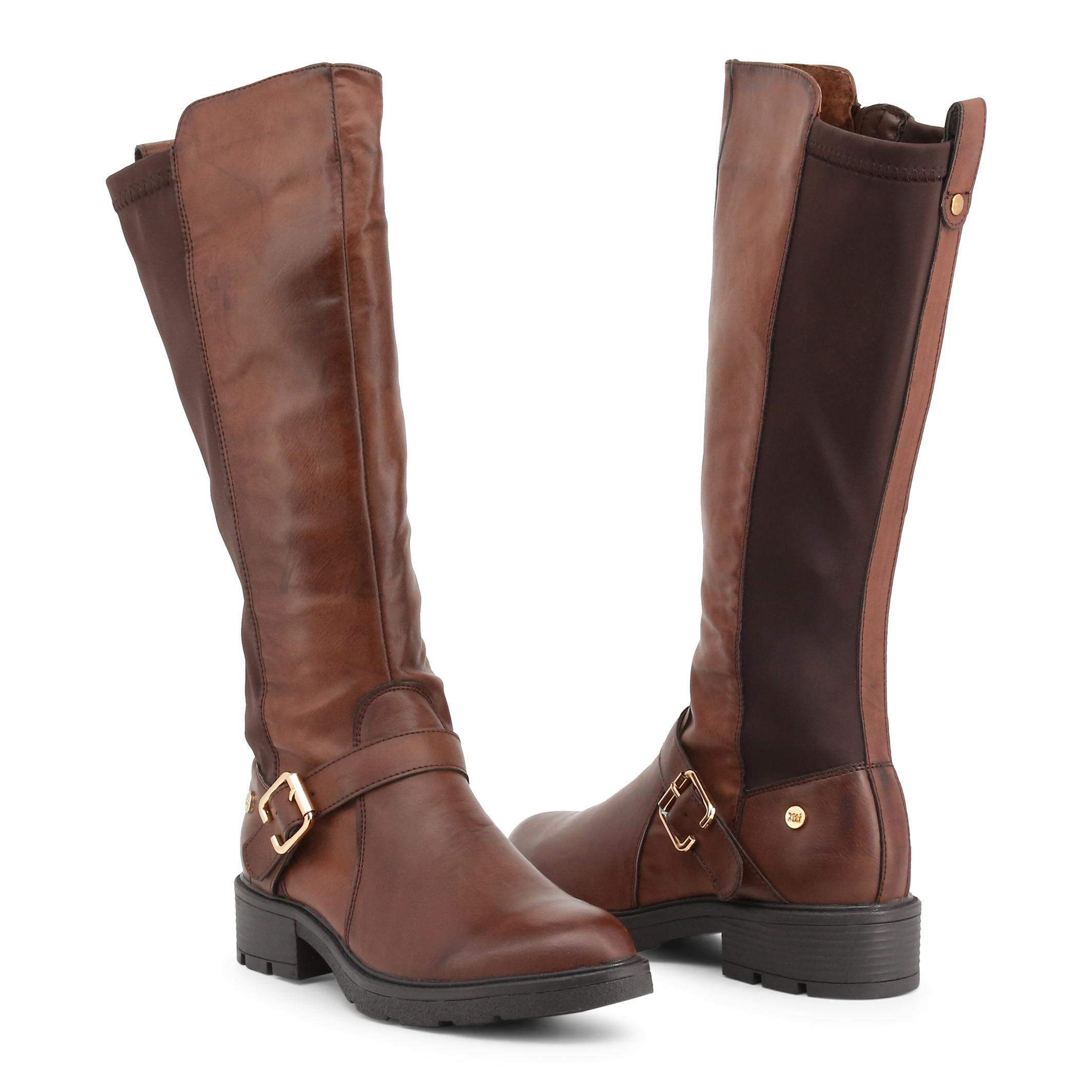 Chaussures Bottes Xti Femme 47341, Bottes Chaussures Brun/Noir Boots eb1544