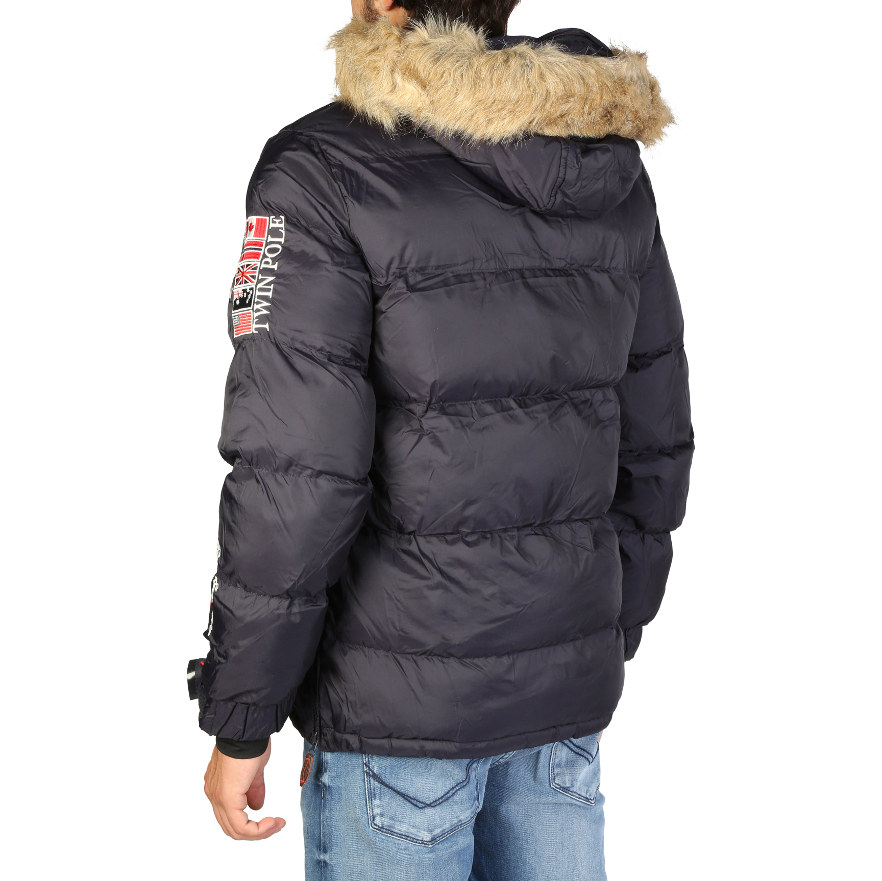 Vestes Geographical Homme Norway Homme Geographical Brice man, Bleu/Rouge/Brun Automne/Hiver 3d4679