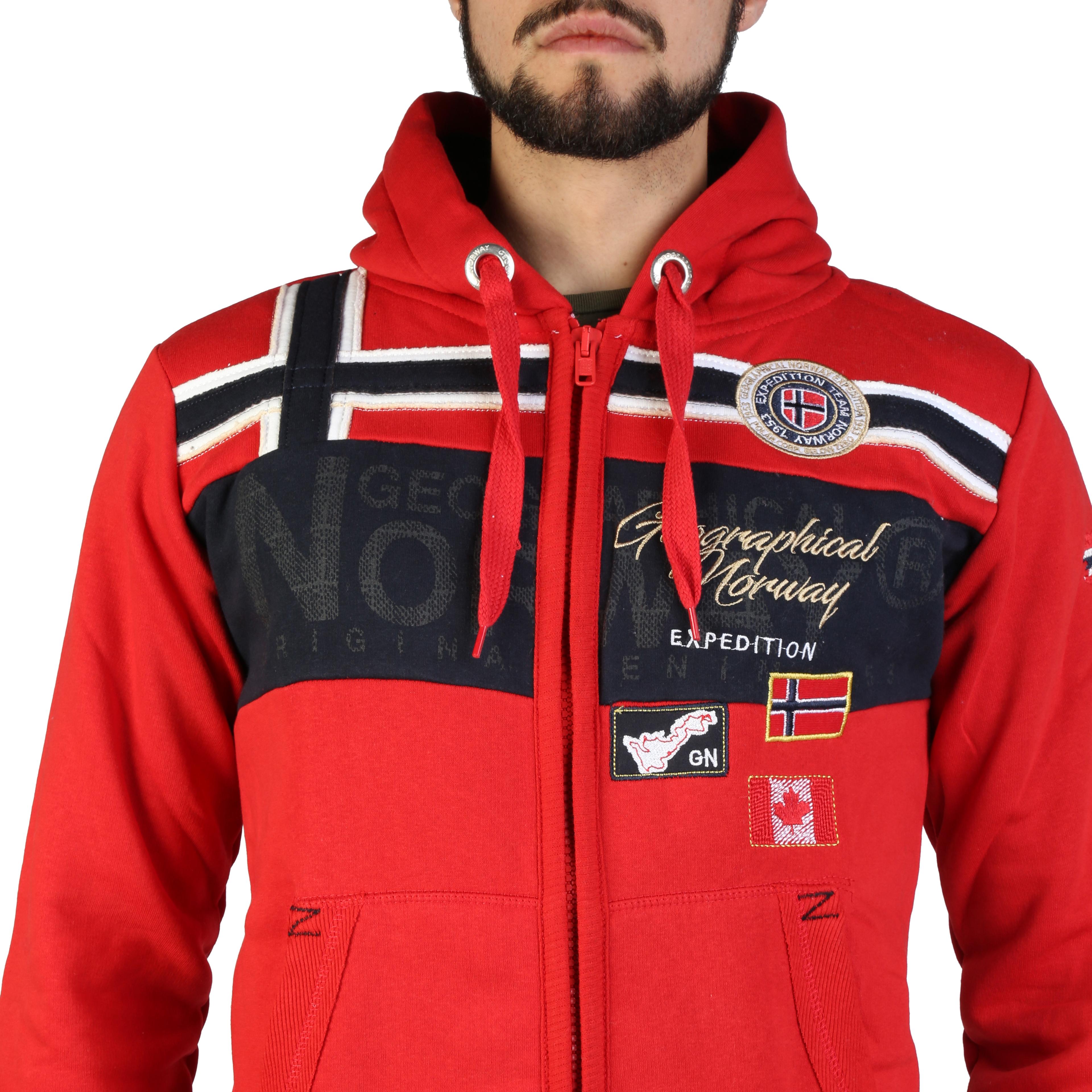 Felpe-Geographical-Norway-Garadock-man-Uomo-Rosso-97311 miniatura 3
