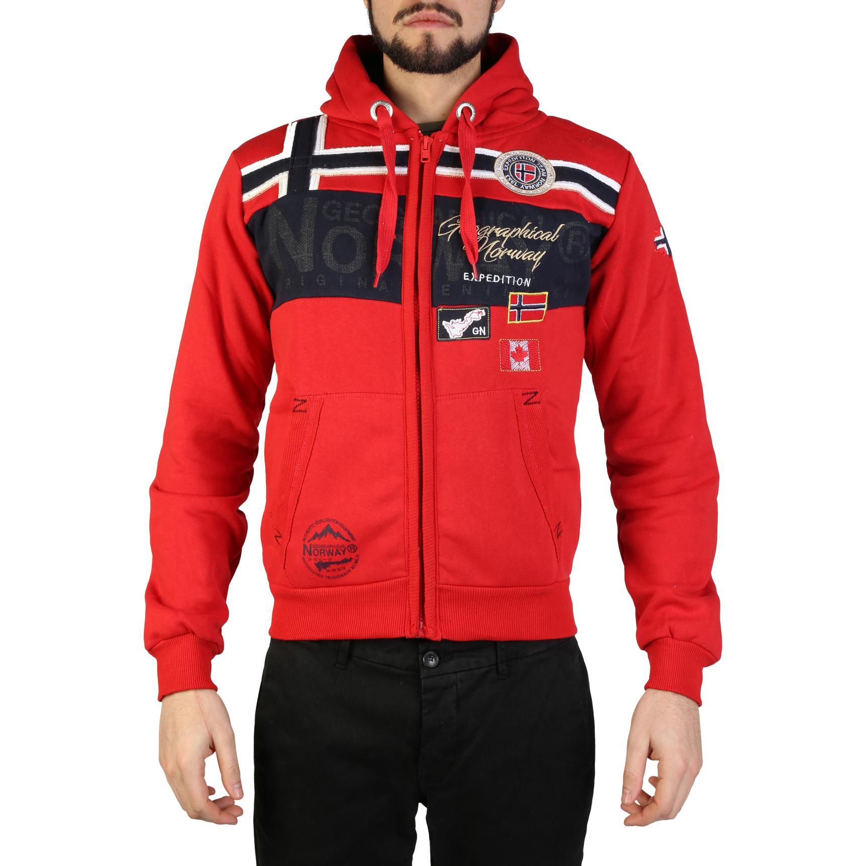 Felpe Geographical Norway Garadock_man Uomo Rosso 97311