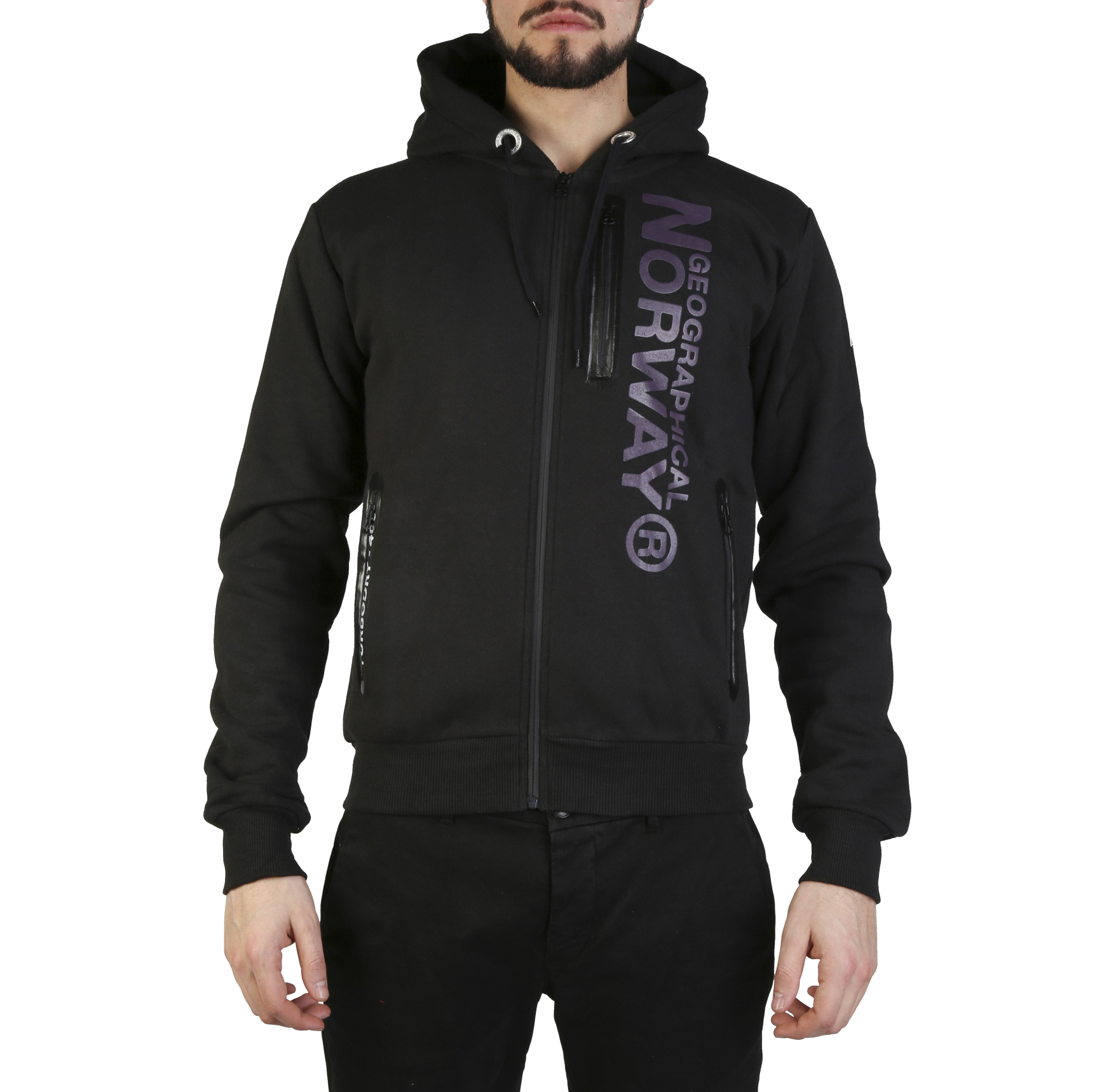 Felpe Geographical Norway Fascarade_man Uomo Nero 97312