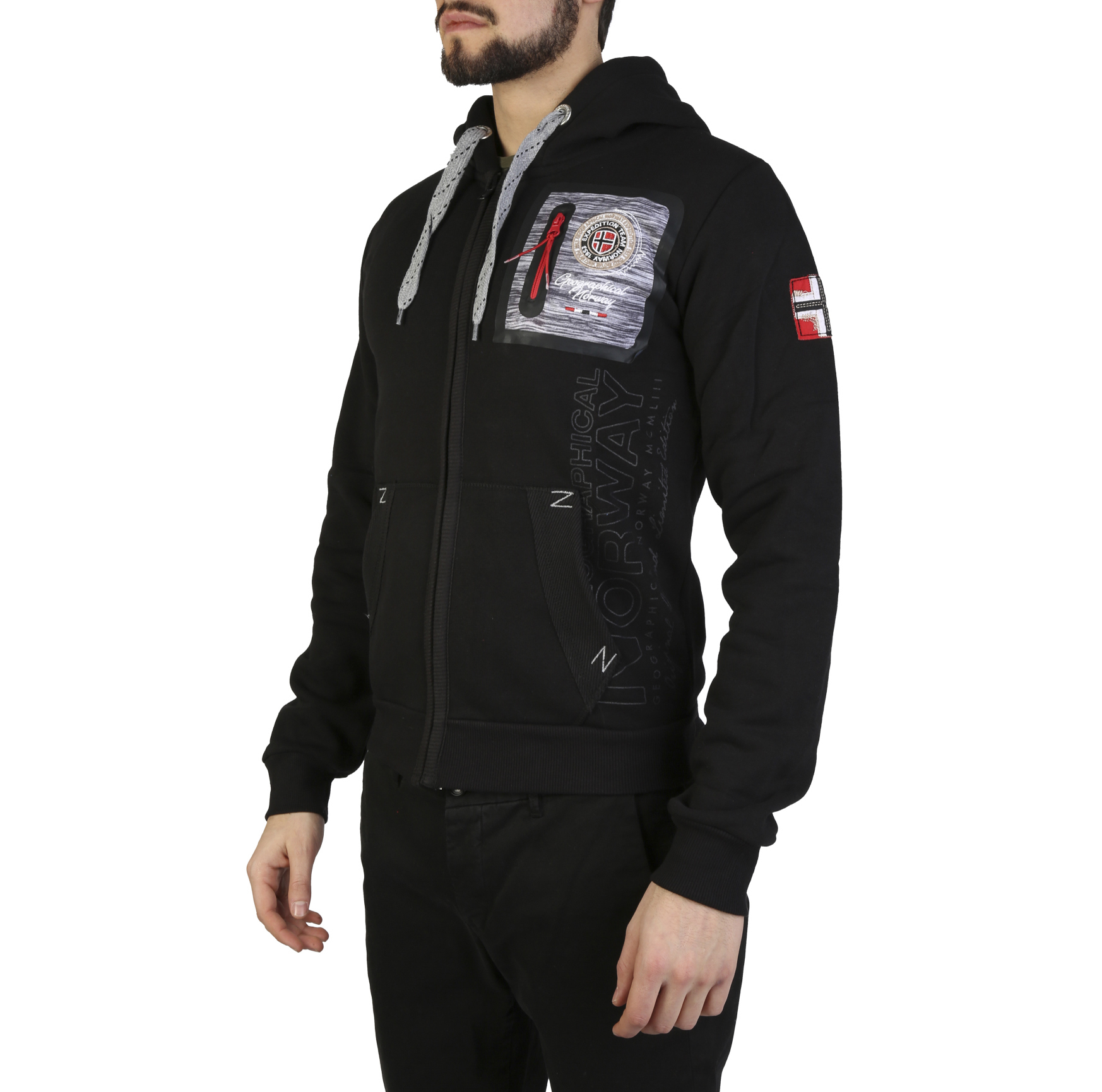 Felpe Geographical Norway Fitor_man Uomo Nero 97316