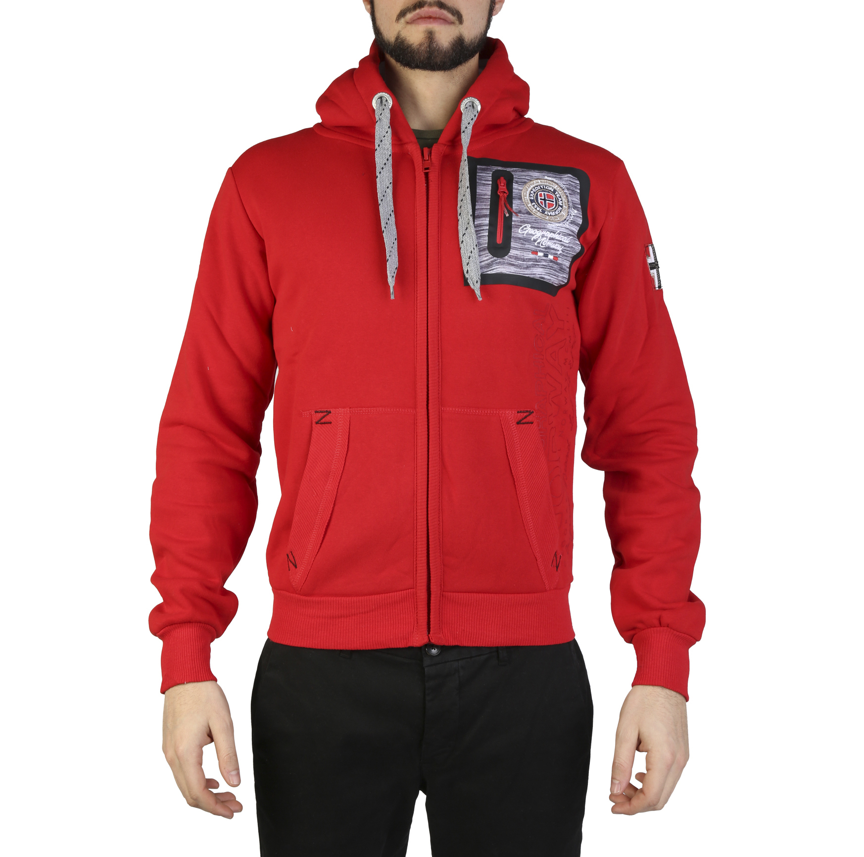 Felpe Geographical Norway Fitor_man Uomo Rosso 97320