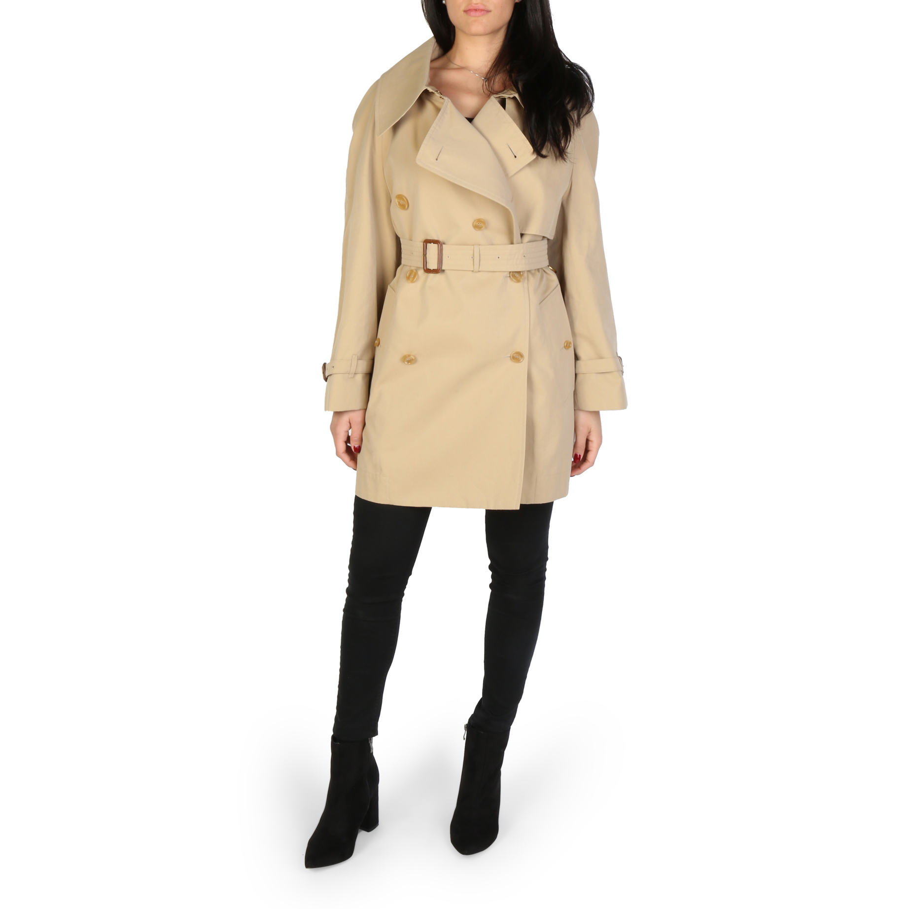 Impermeabile Burberry FORTINGALL Donna Marrone 98033